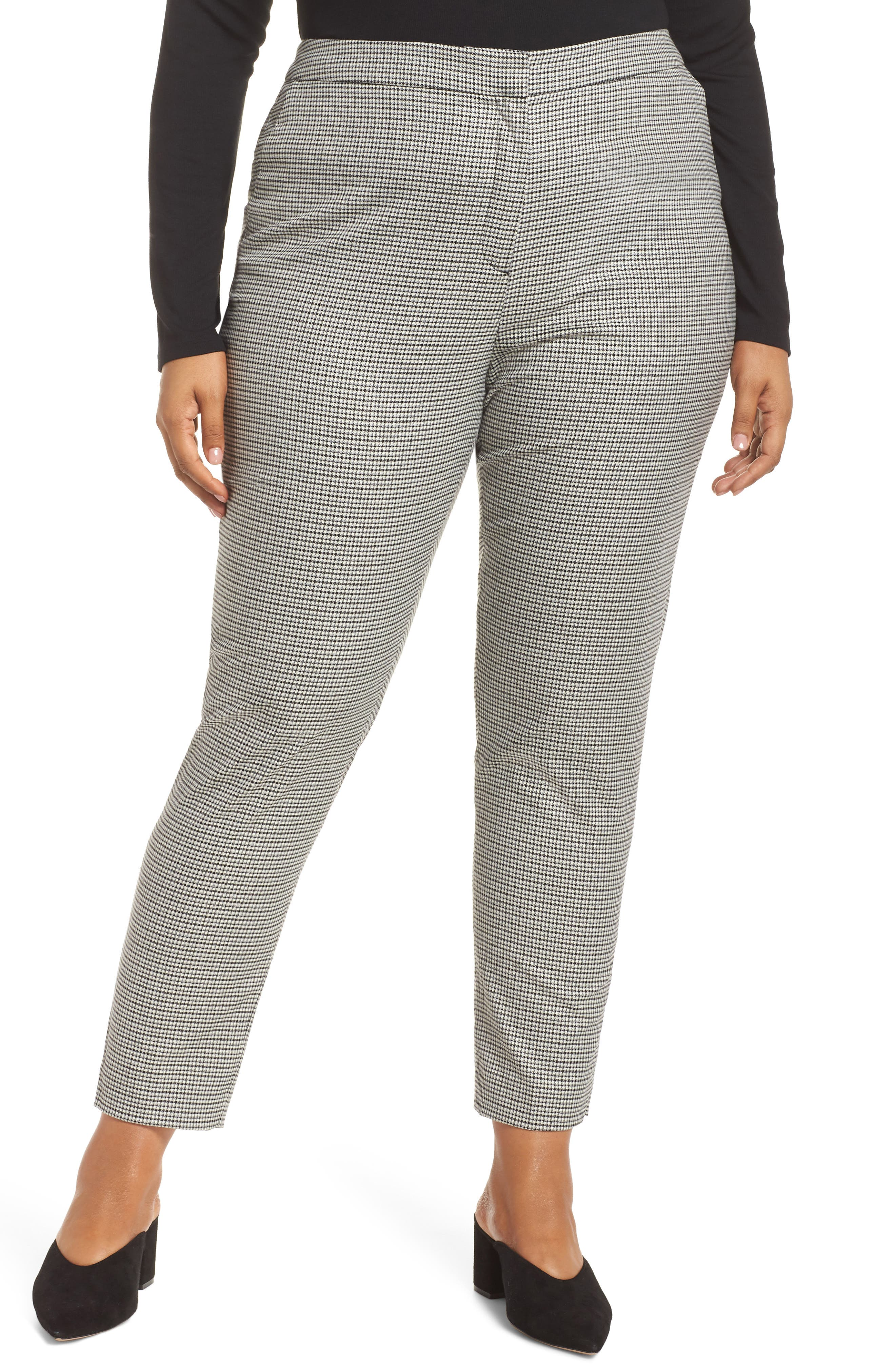 HALOGEN<SUP>®</SUP>, Plaid Ankle Skinny Pants, Alternate thumbnail 2, color, 001