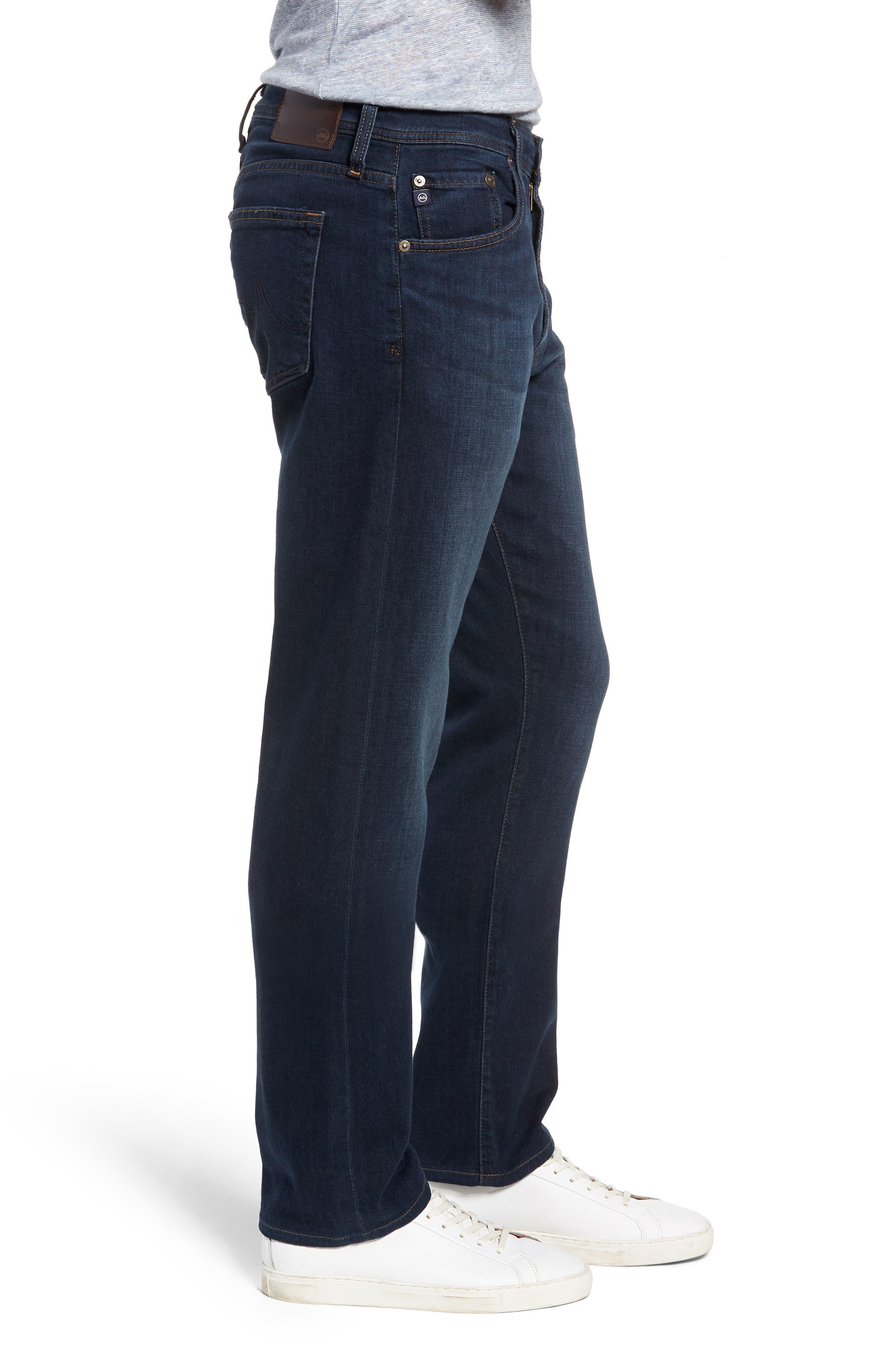 AG, Ives Straight Leg Jeans, Alternate thumbnail 4, color, COVET