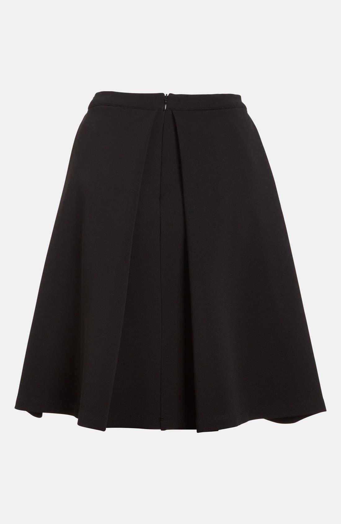 DEVLIN, Pleated Skirt, Alternate thumbnail 2, color, 001