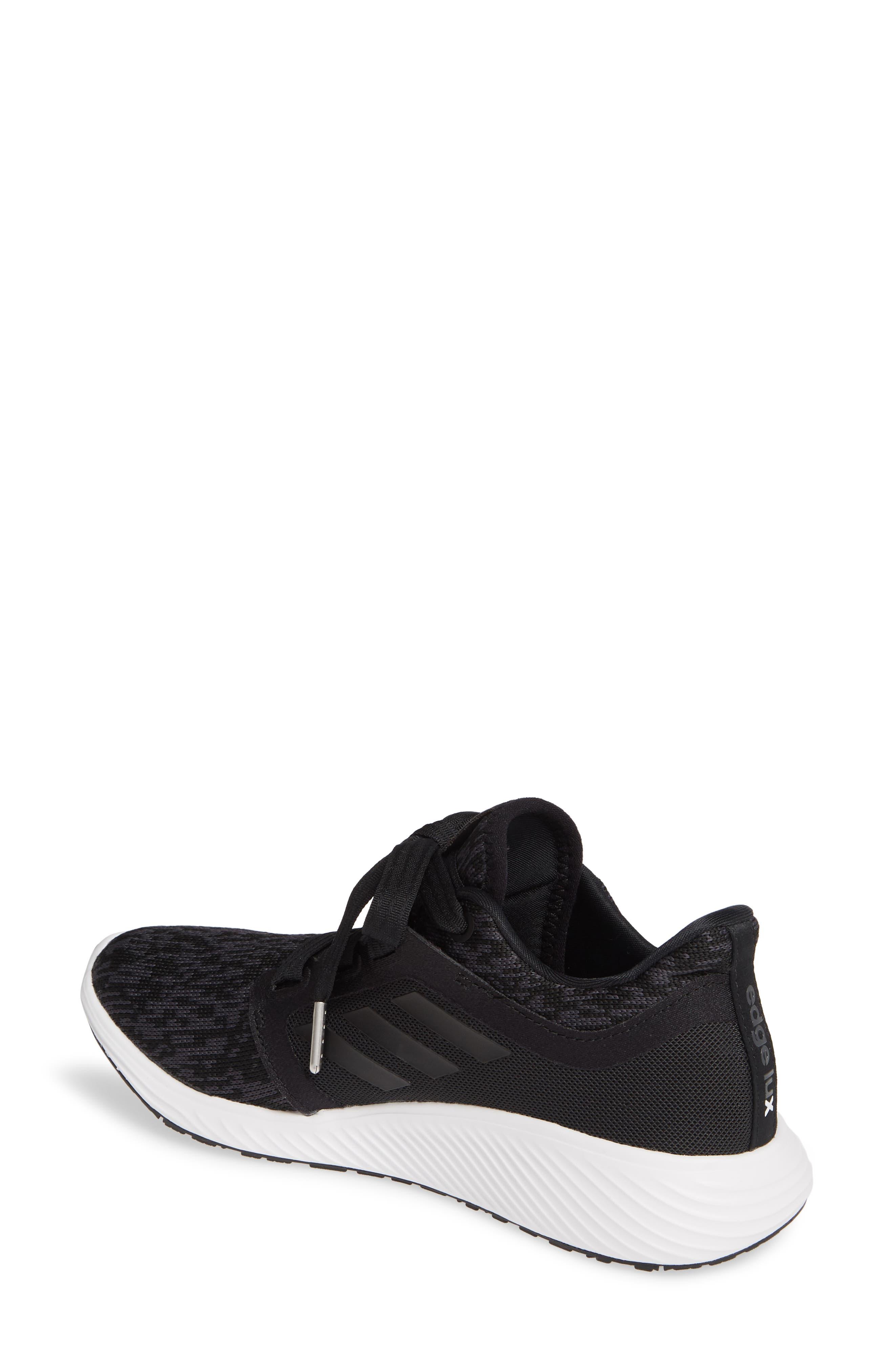 ADIDAS, Edge Lux 3 Running Shoe, Alternate thumbnail 2, color, CORE BLACK/ WHITE