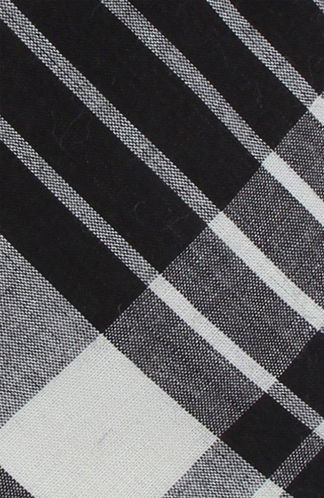 1901, Plaid Skinny Tie, Alternate thumbnail 2, color, 001