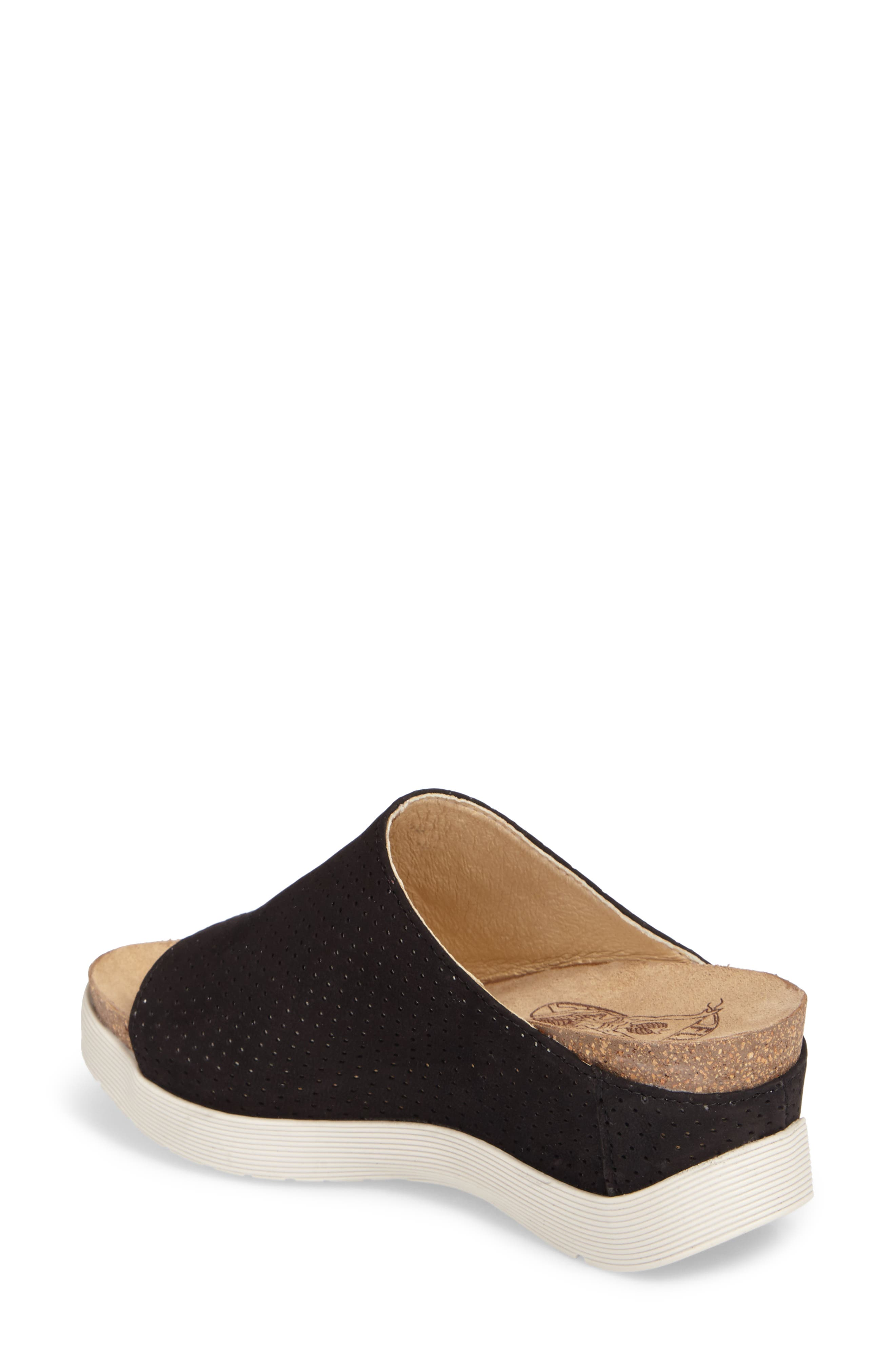 FLY LONDON, Whin Platform Sandal, Alternate thumbnail 2, color, BLACK CUPIDO LEATHER