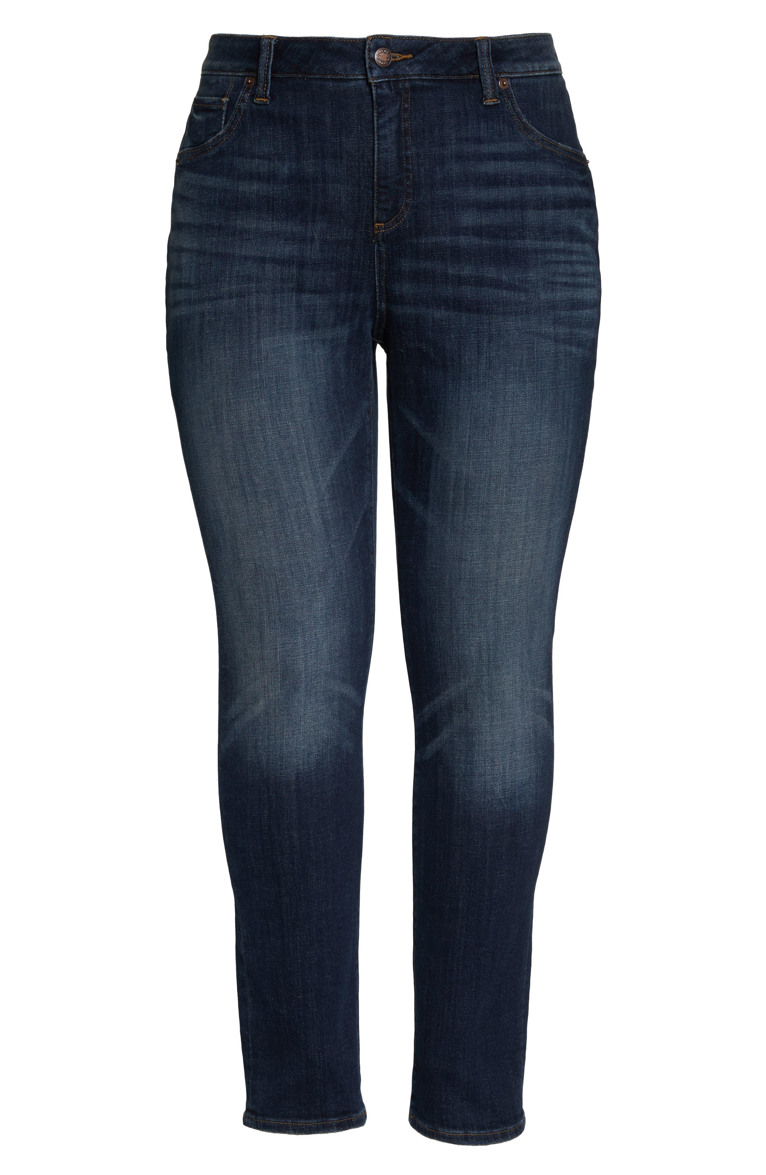 LUCKY BRAND, Emma High Rise Stretch Straight Leg Jeans, Alternate thumbnail 2, color, TIBURON