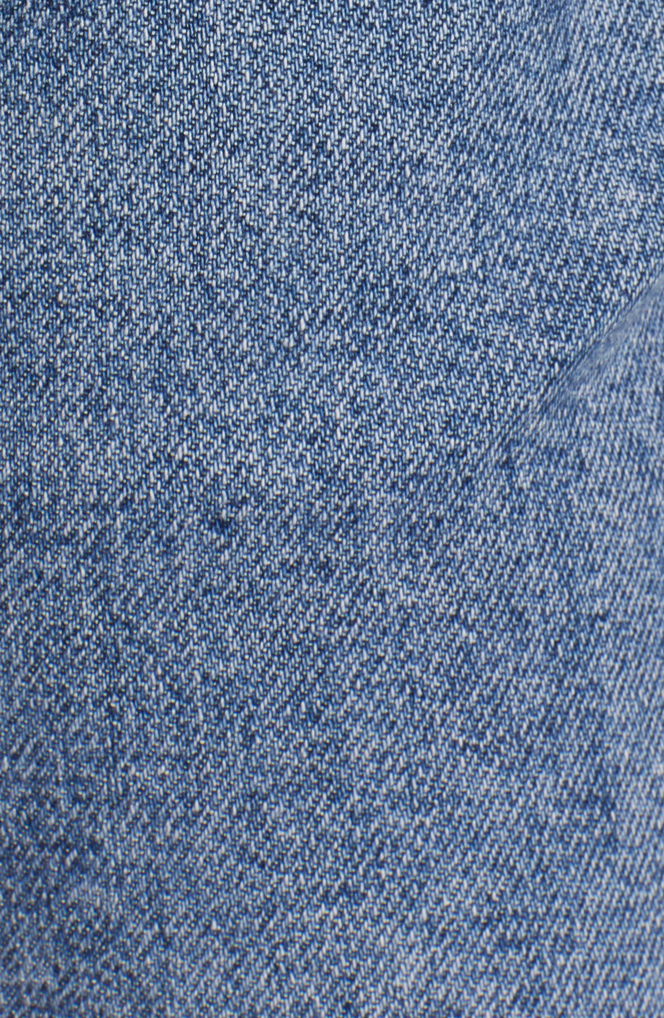 TOPSHOP, Straight Leg Jeans, Alternate thumbnail 6, color, MID DENIM