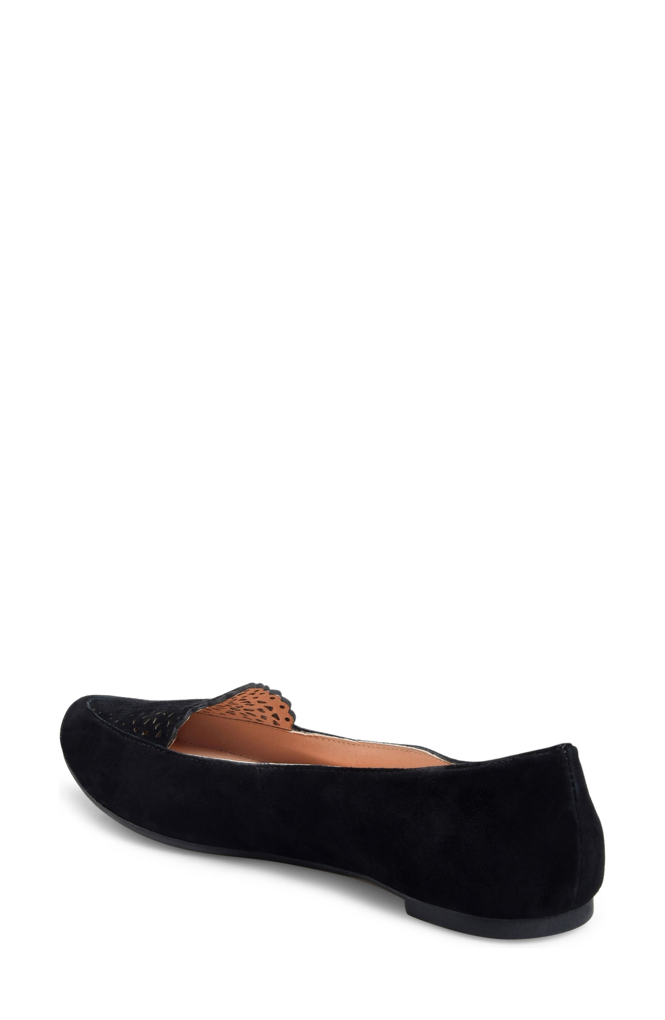 ONO, Marna Flat, Alternate thumbnail 2, color, BLACK SUEDE