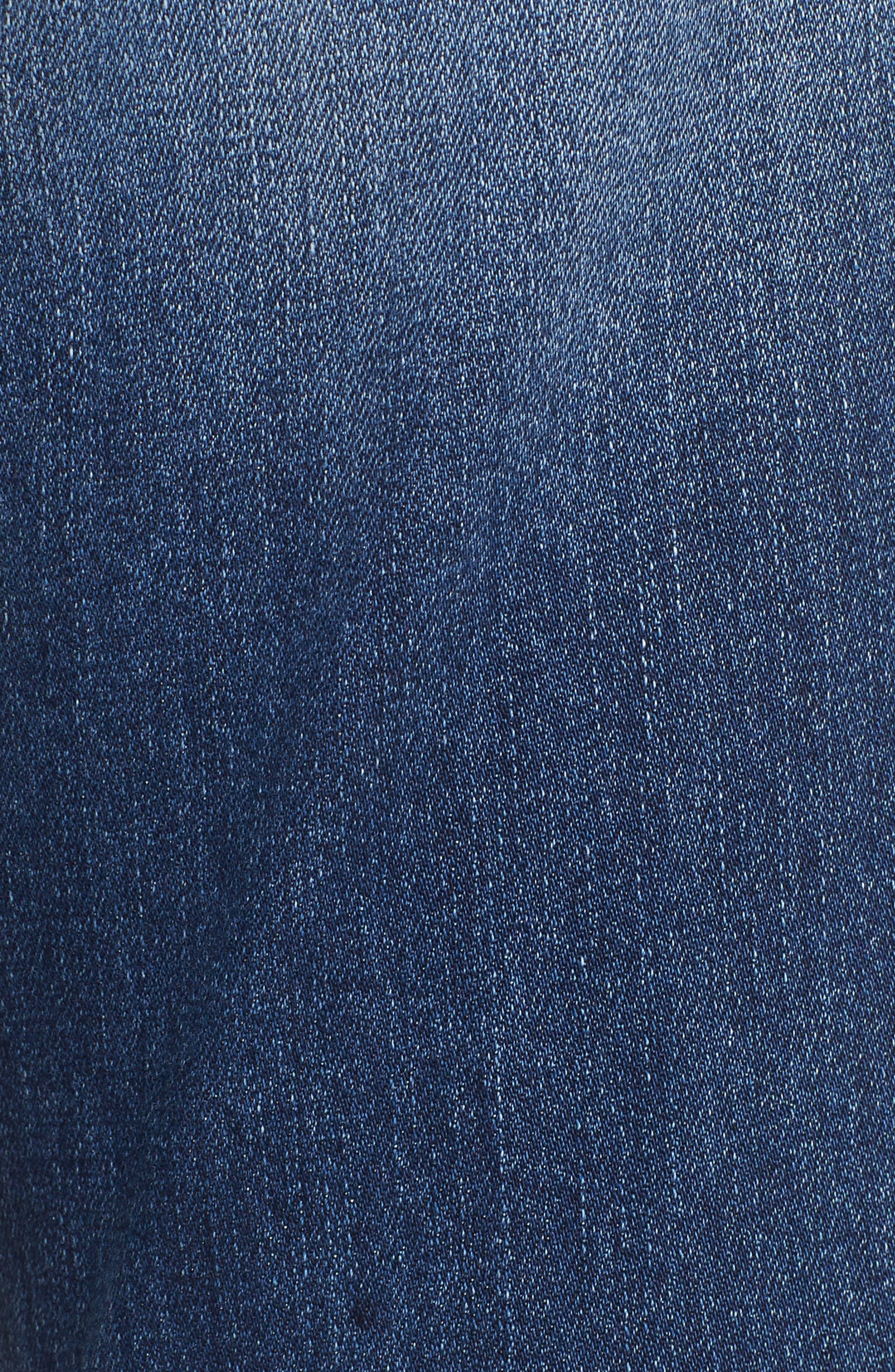 PROSPERITY DENIM, Ripped Girlfriend Jeans, Alternate thumbnail 6, color, BLUE