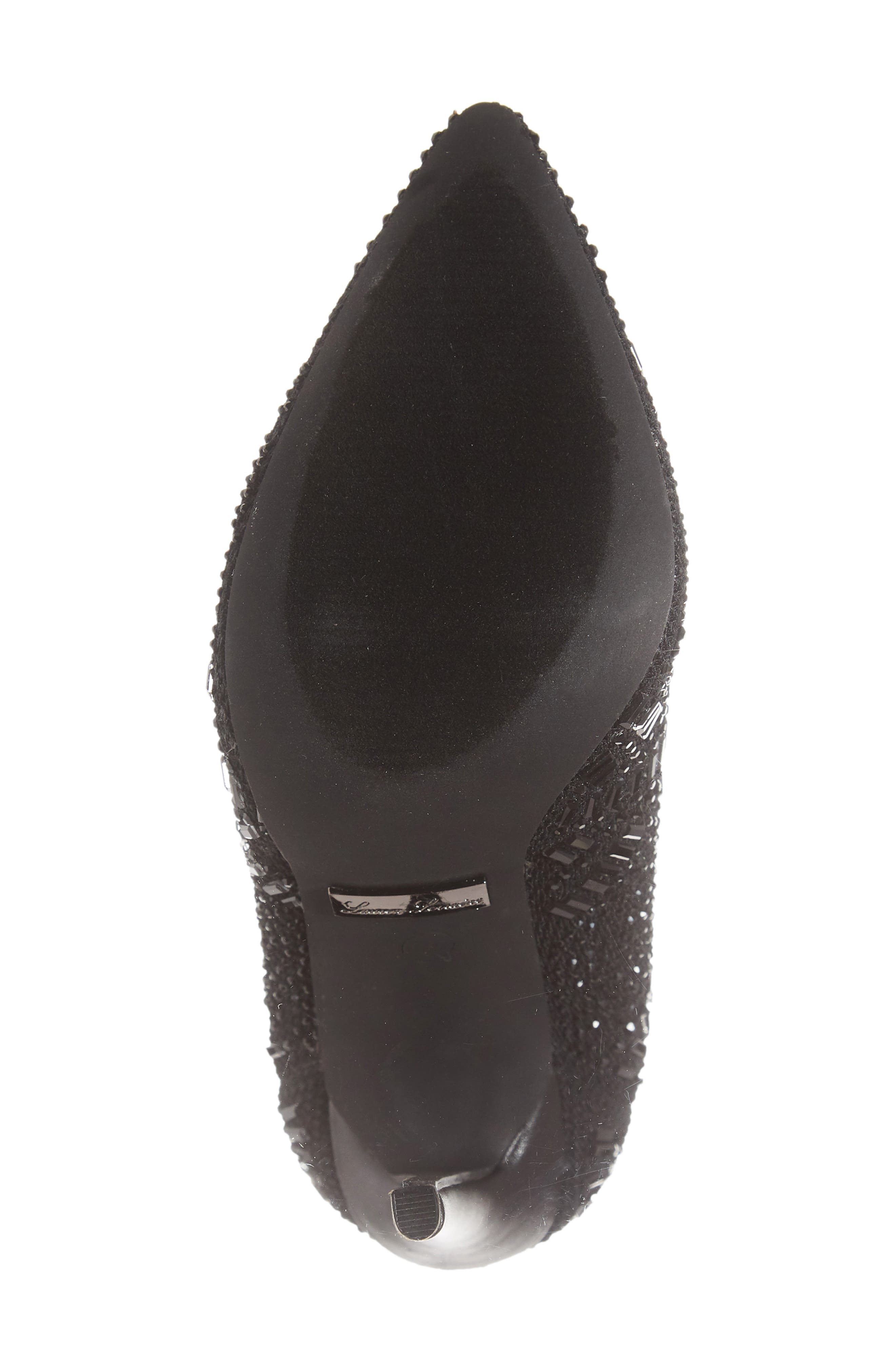 LAUREN LORRAINE, Sarah Crystal Embellished Bootie, Alternate thumbnail 6, color, BLACK FABRIC