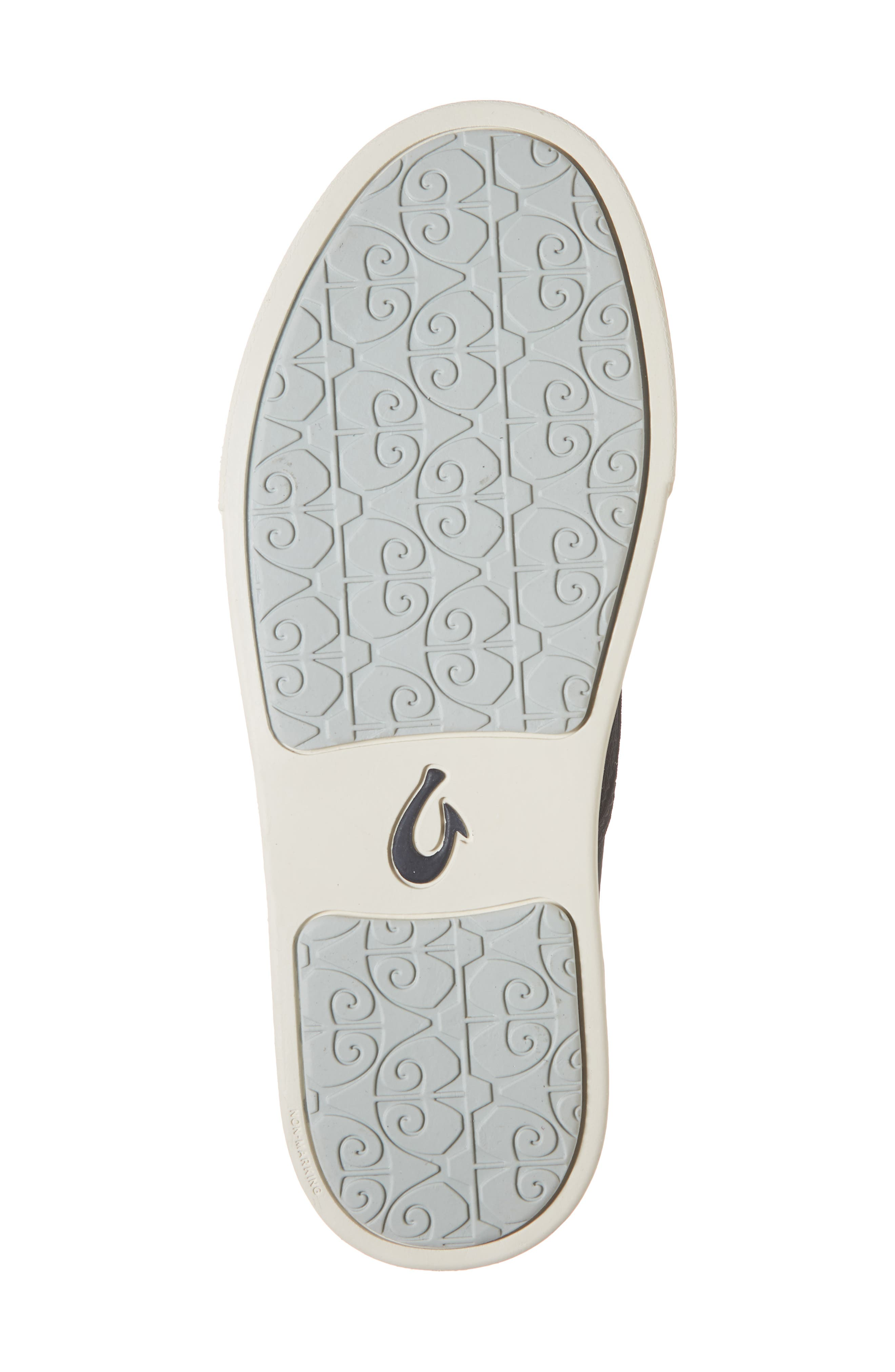 OLUKAI, 'Pehuea' Slip-On Sneaker, Alternate thumbnail 6, color, BLACK/ PALM FABRIC
