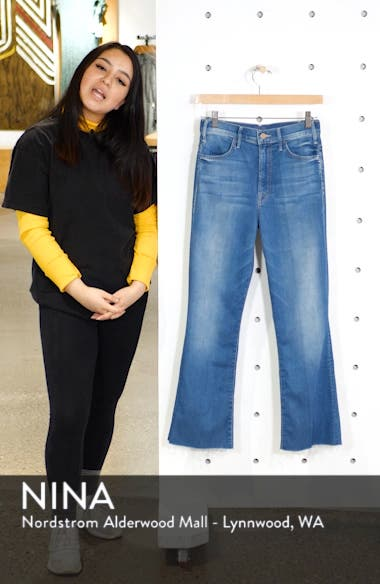 The Hustler High Waist Ankle Flare Jeans, sales video thumbnail