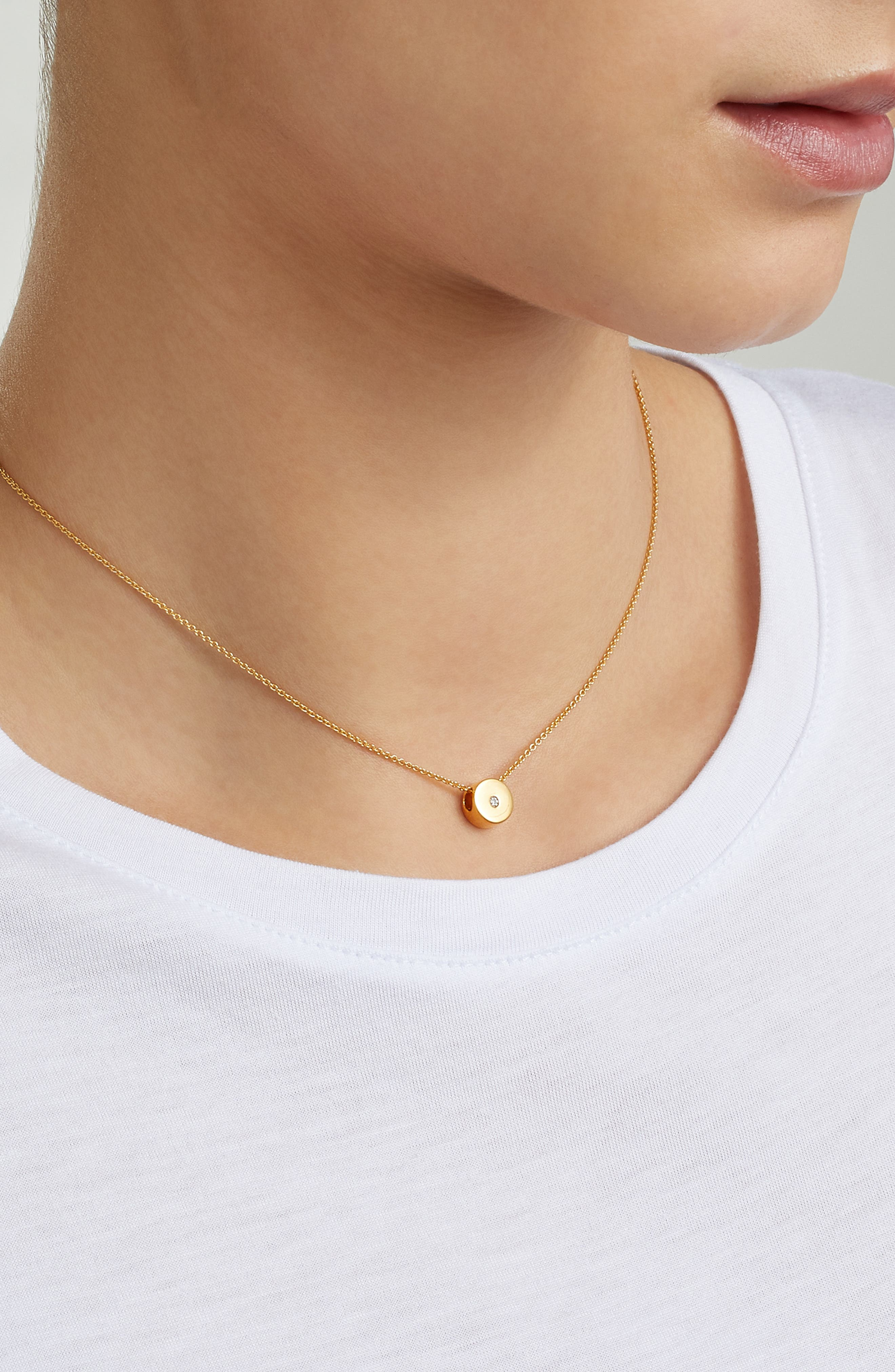 MONICA VINADER, Linear Solo Diamond Pendant Necklace, Alternate thumbnail 2, color, GOLD/ DIAMOND