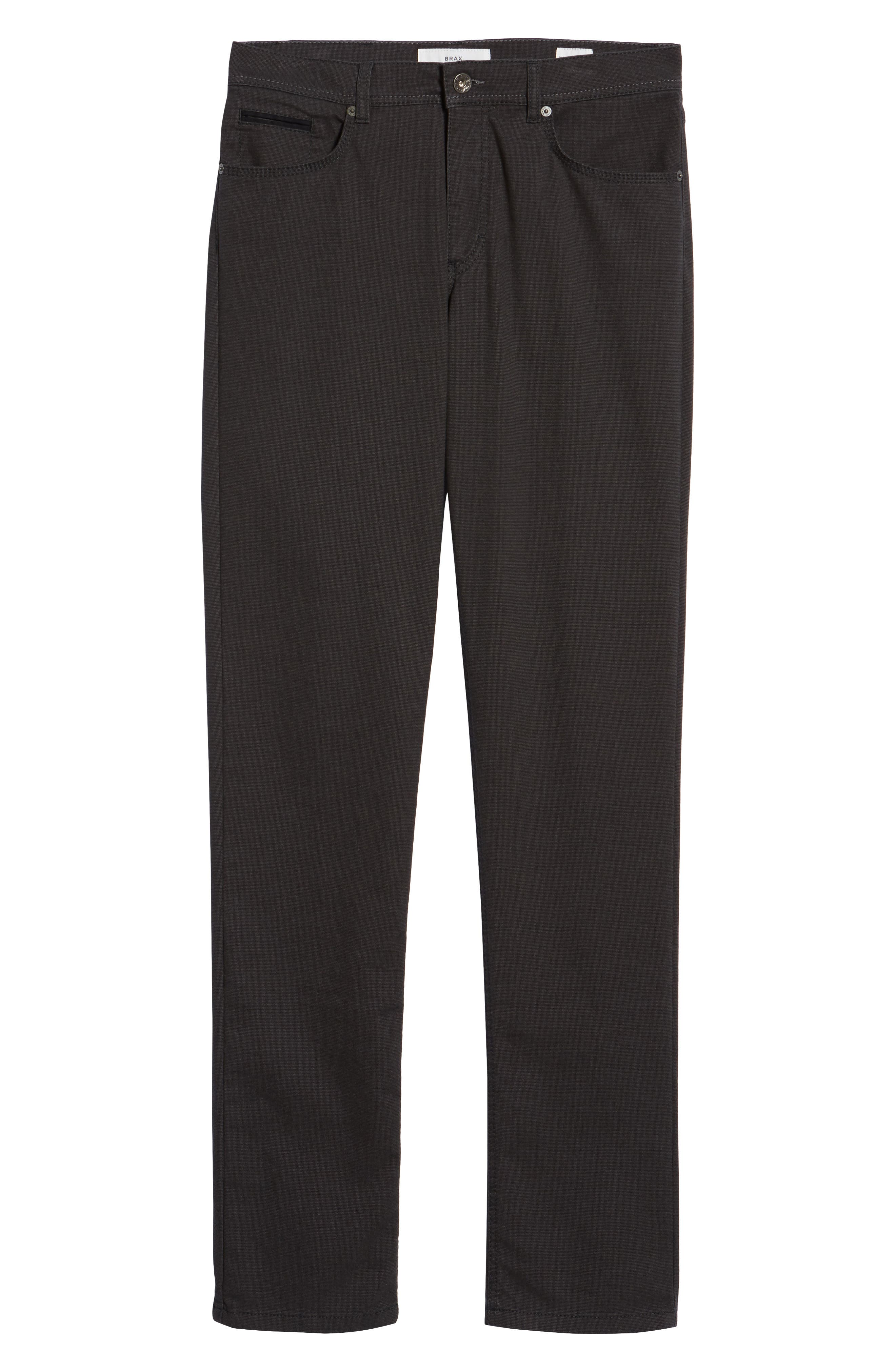 BRAX, Woolook Classic Fit Flat Front Pants, Alternate thumbnail 7, color, ANTHRA