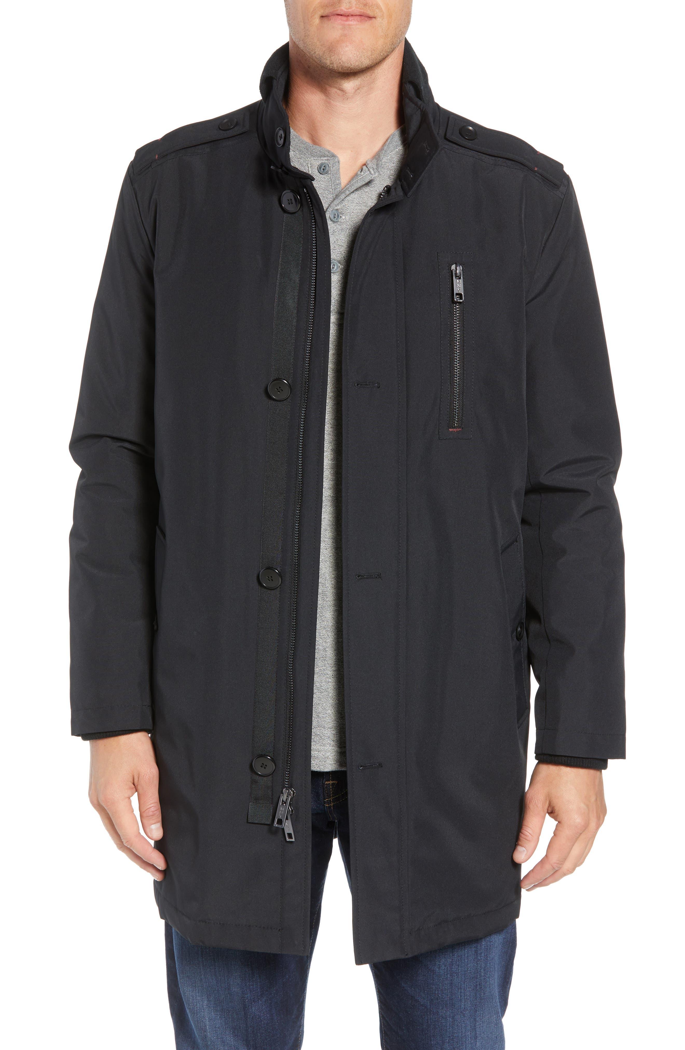 MARC NEW YORK Cullen Oxford Car Coat, Main, color, BLACK
