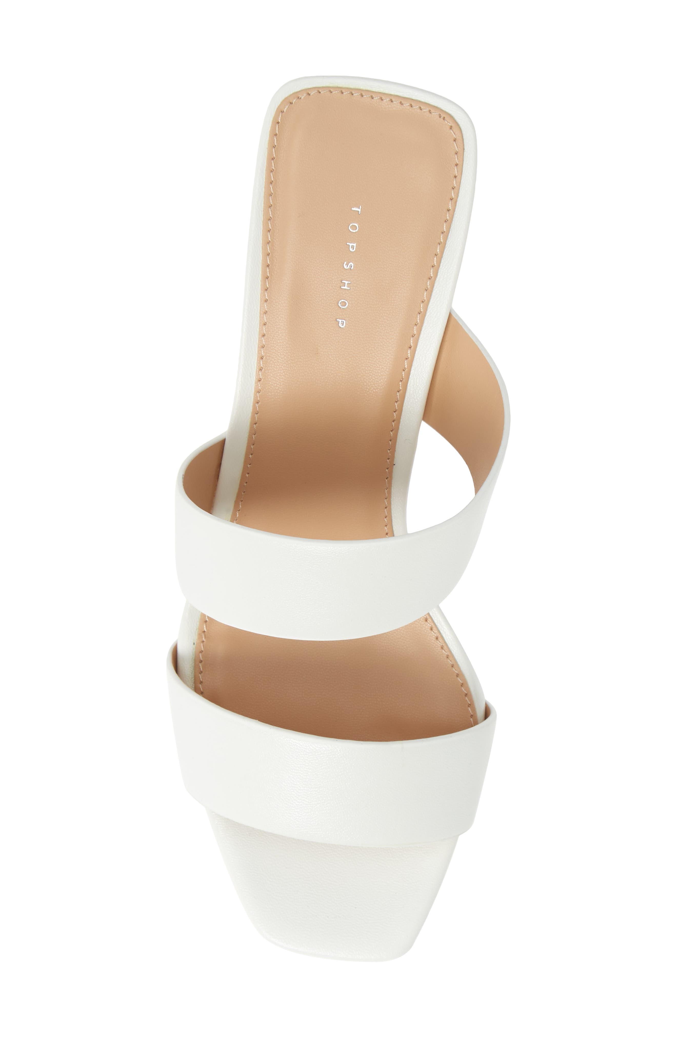 TOPSHOP, Darla Slide Sandal, Alternate thumbnail 5, color, WHITE