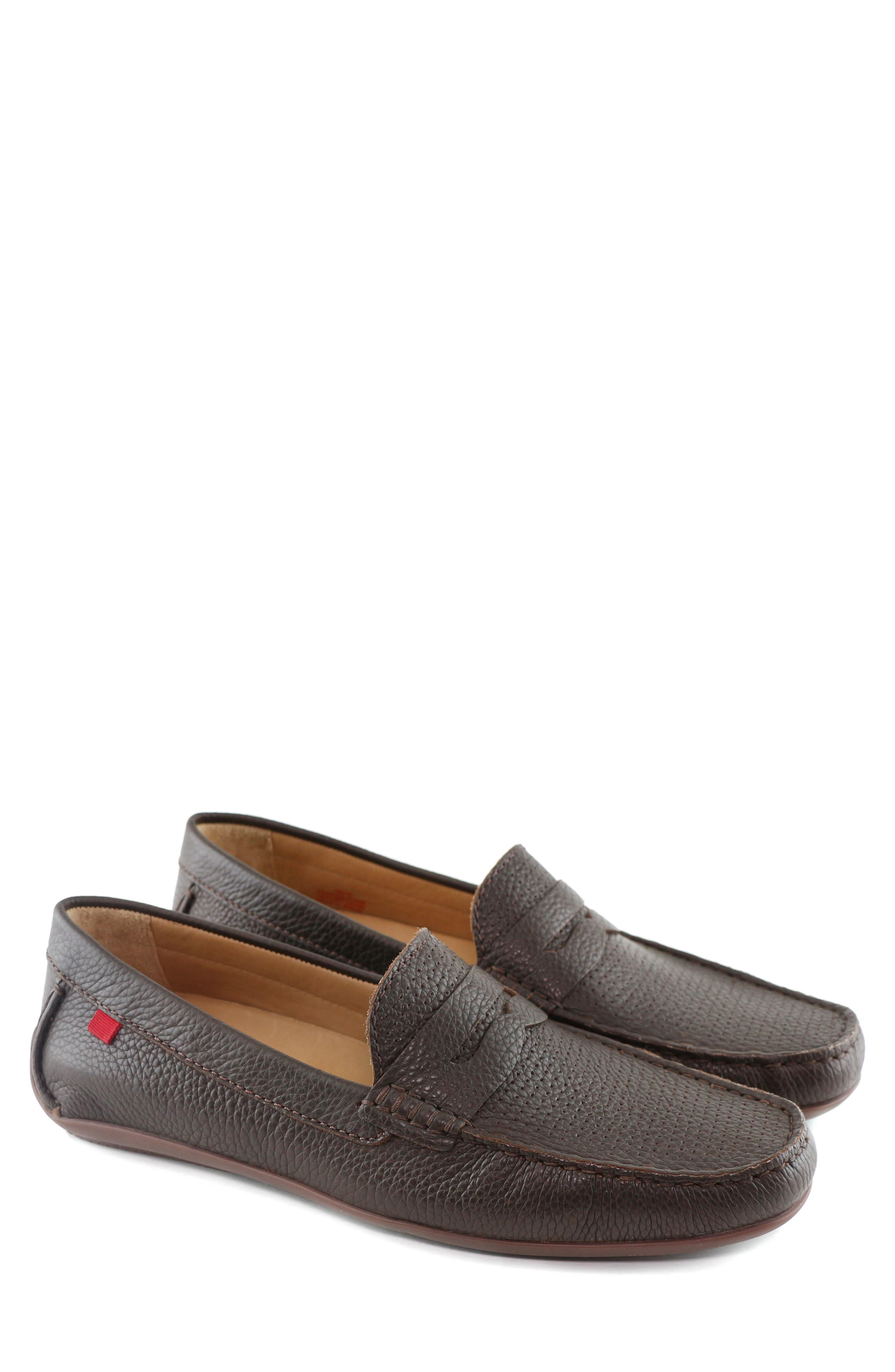MARC JOSEPH NEW YORK, 'Union Street' Penny Loafer, Alternate thumbnail 8, color, BROWN GRAINY LEATHER