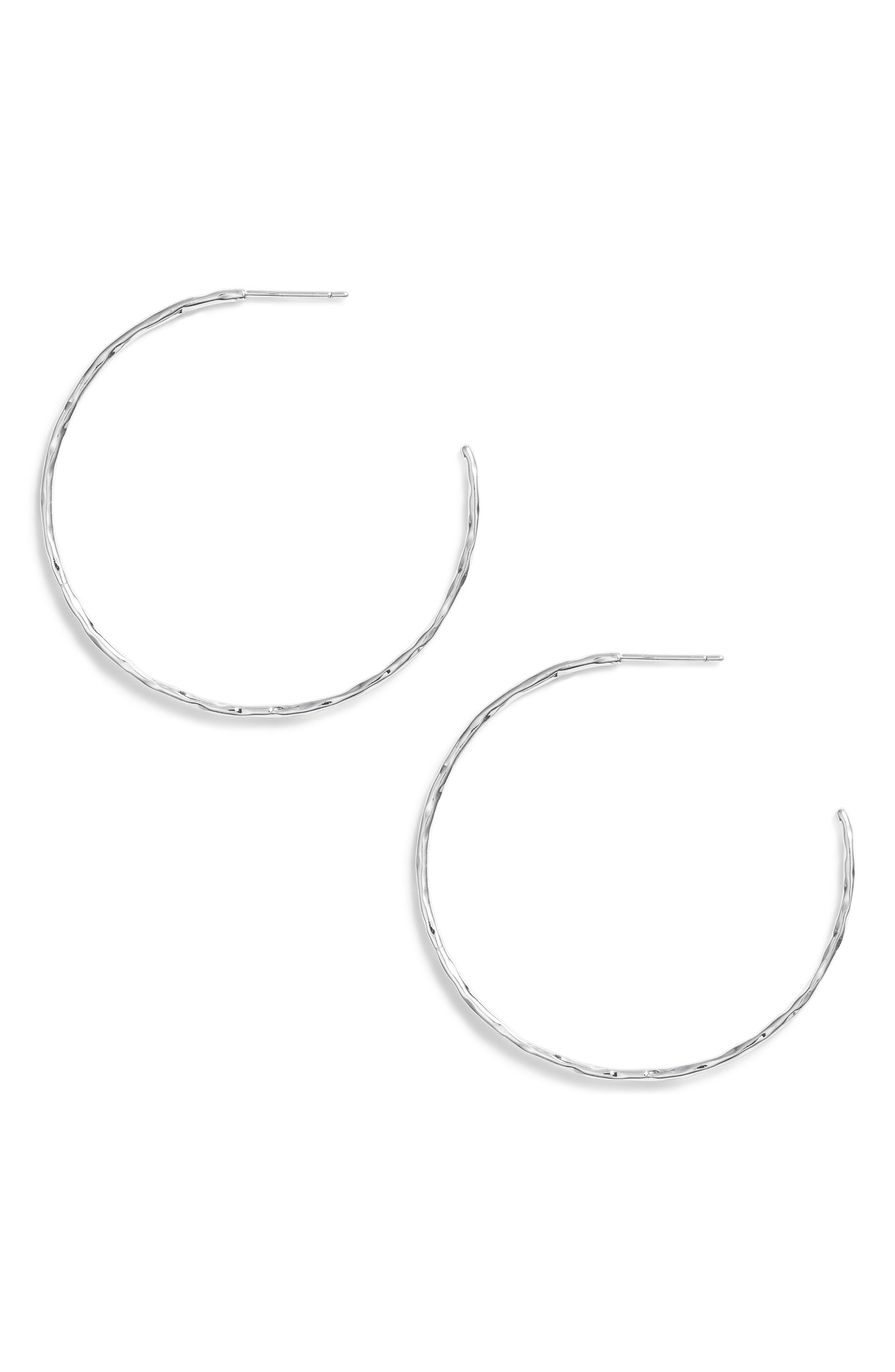 GORJANA, Taner Hoop Earrings, Main thumbnail 1, color, SILVER