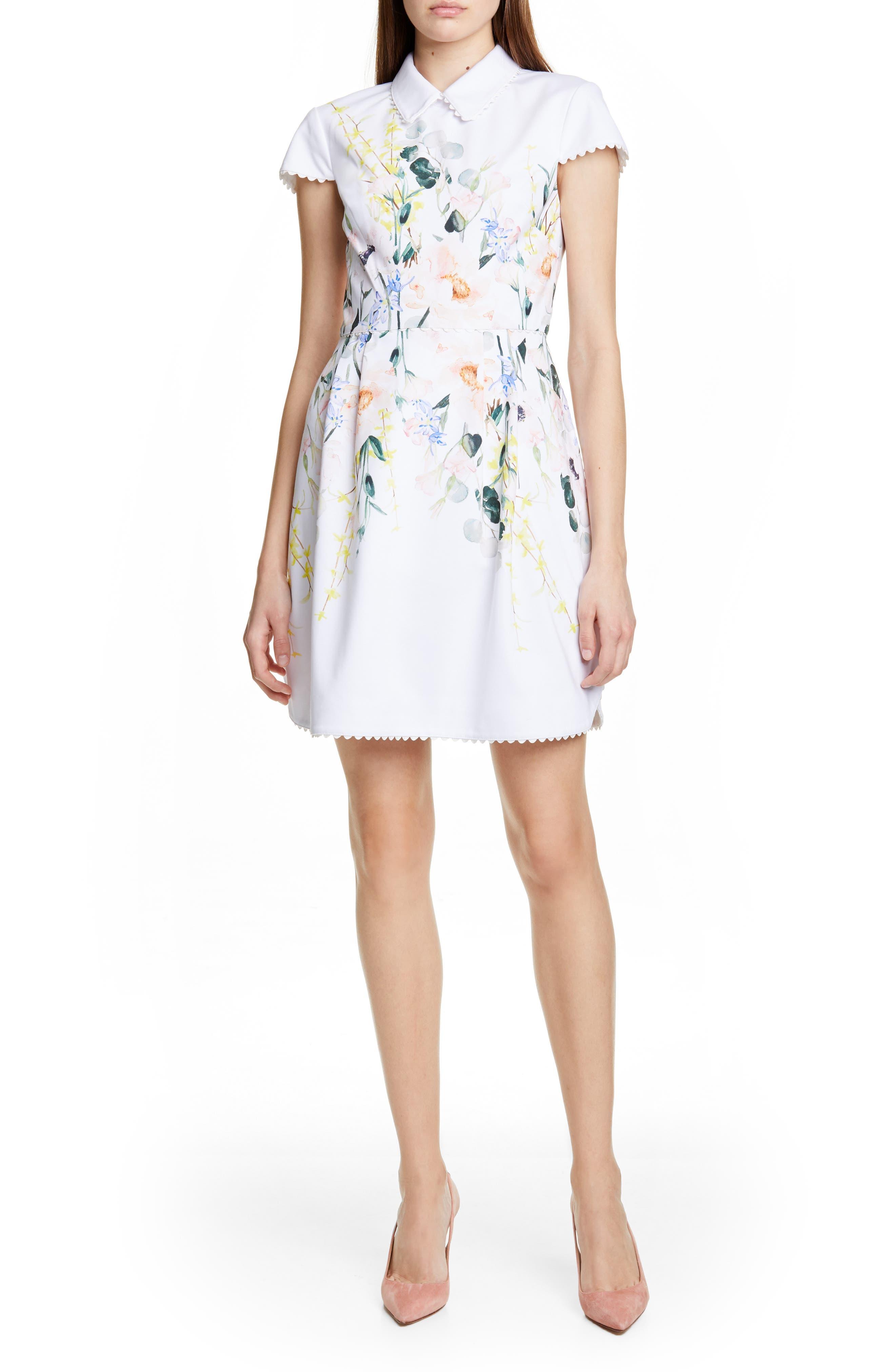 Ted Baker London Charsy Elelgance Ponte Dress, White