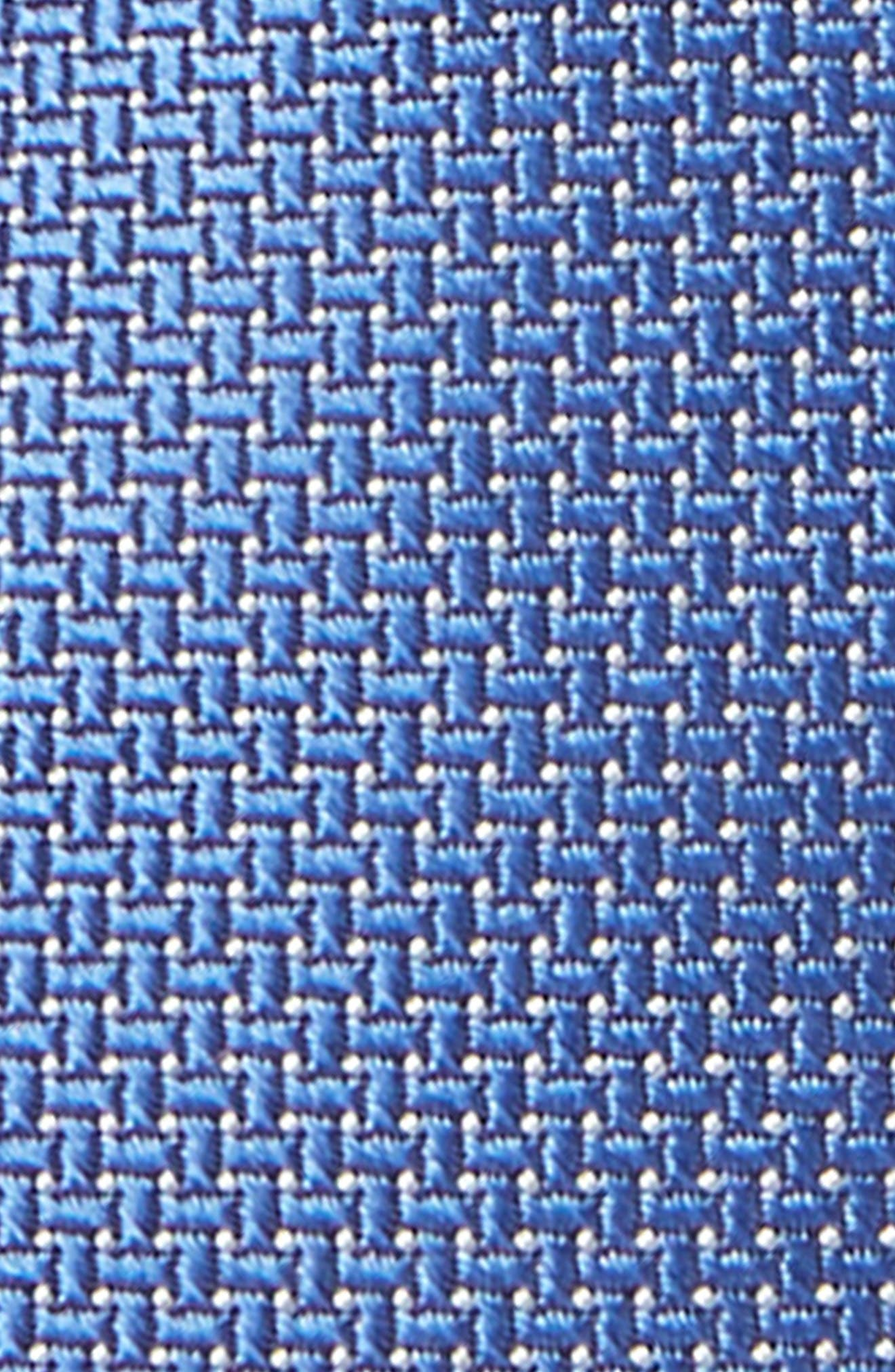 NORDSTROM, Theodore Solid Silk Tie, Alternate thumbnail 2, color, BLUE