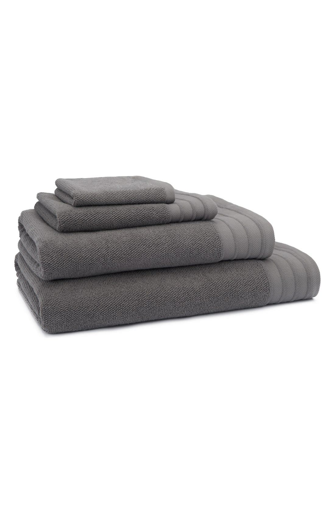 UGG<SUP>®</SUP>, Classic Luxe Wash Towel, Alternate thumbnail 2, color, GRANITE