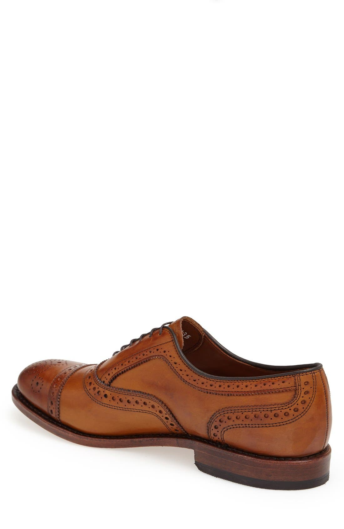 ALLEN EDMONDS, 'Strand' Cap Toe Oxford, Alternate thumbnail 2, color, WALNUT LEATHER