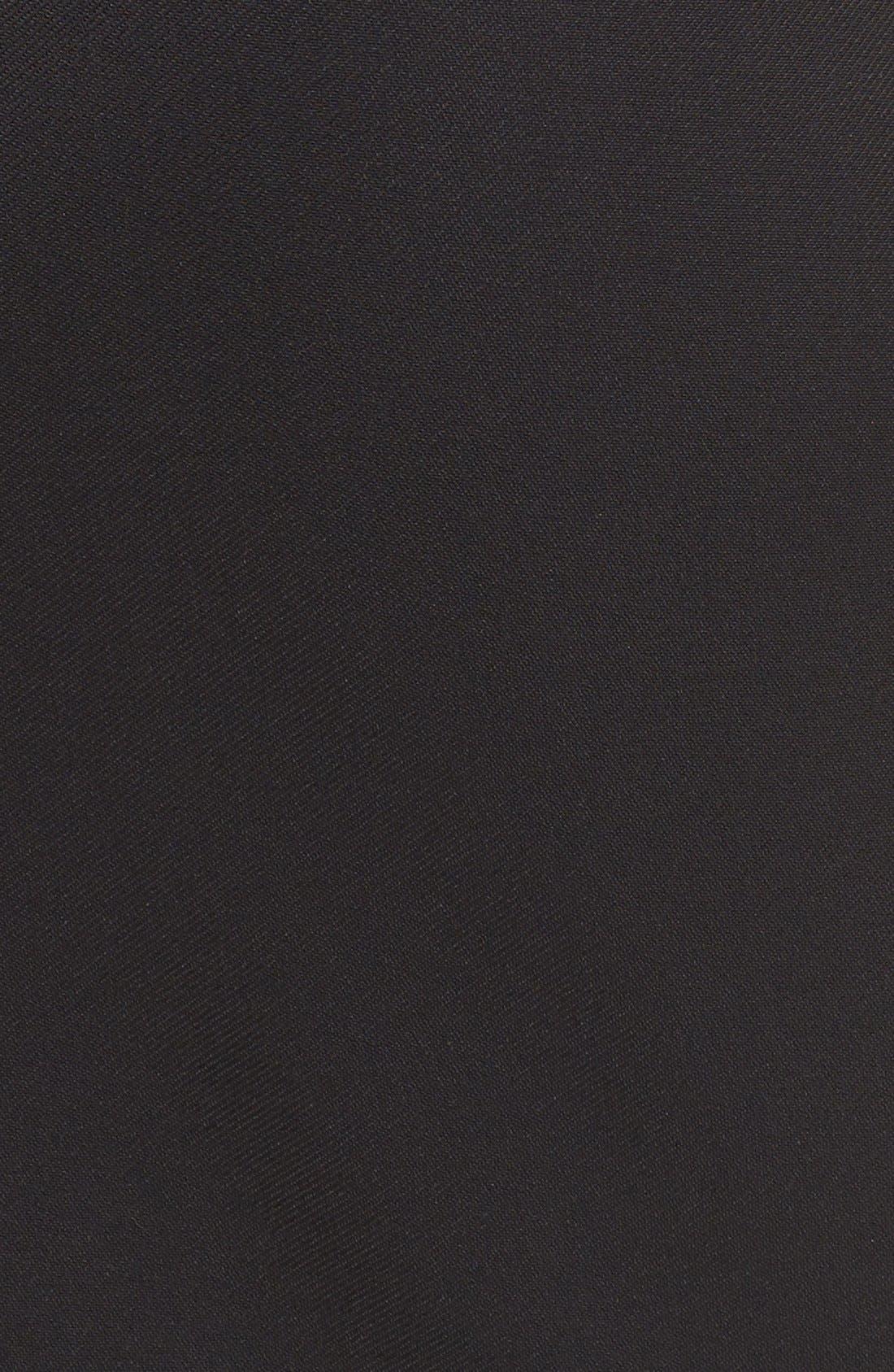 HALOGEN<SUP>®</SUP>, Asymmetrical Zip Pencil Skirt, Alternate thumbnail 3, color, 001