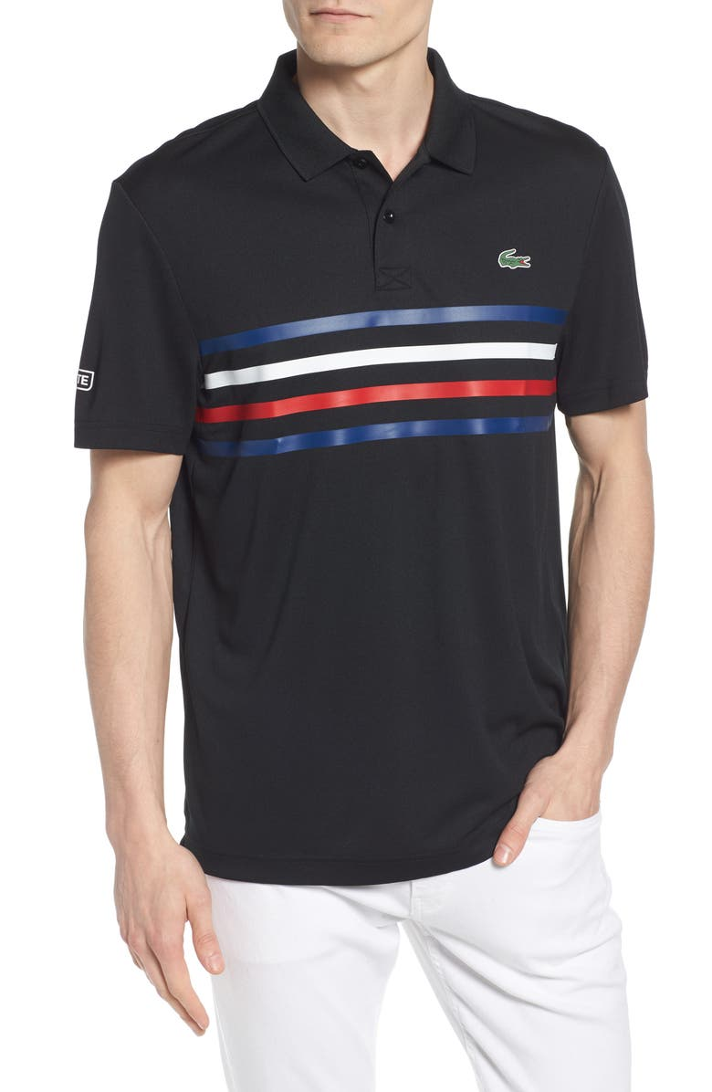 ca01e4772a LACOSTE Sport Colored Bands Technical Piqué Tennis Polo, Main, color, 013