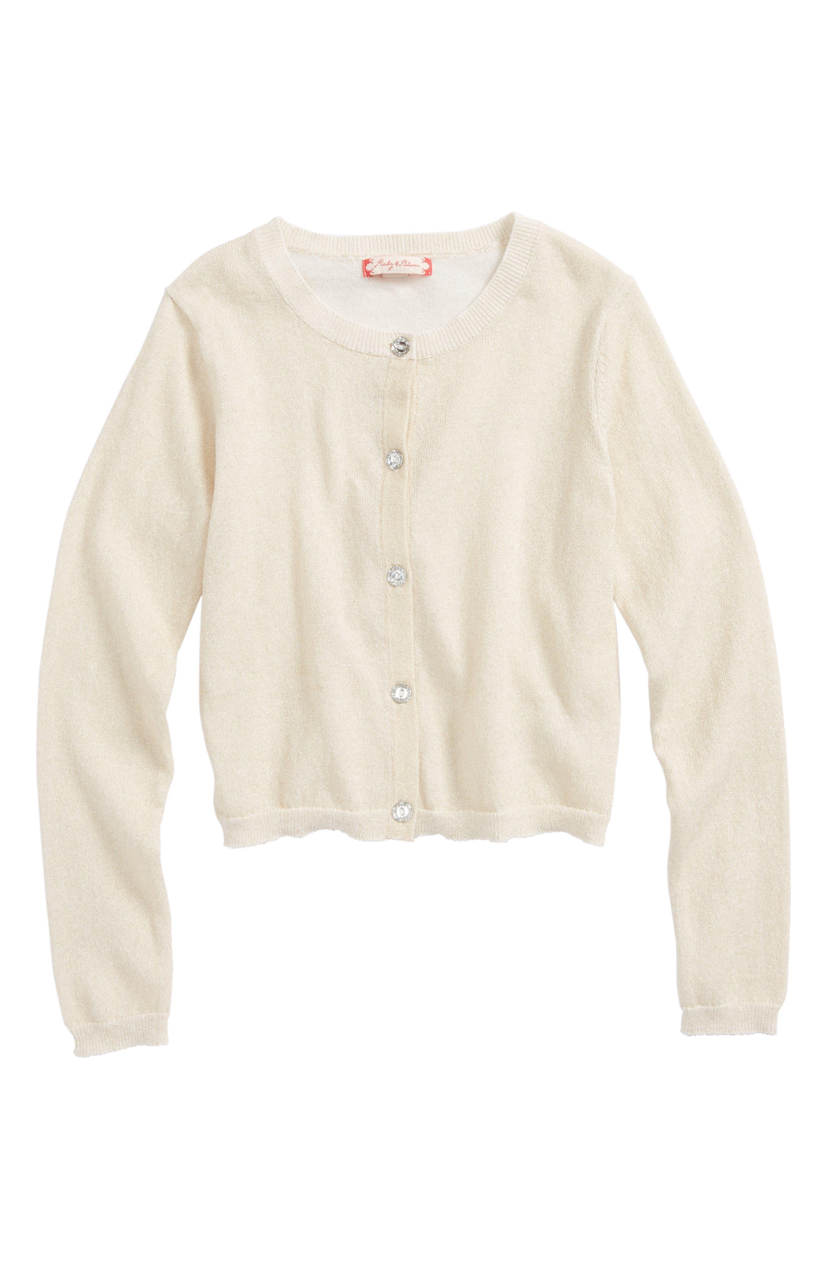 Toddler Girls Ruby  Bloom Shimmer Cardigan Size 3T  Metallic
