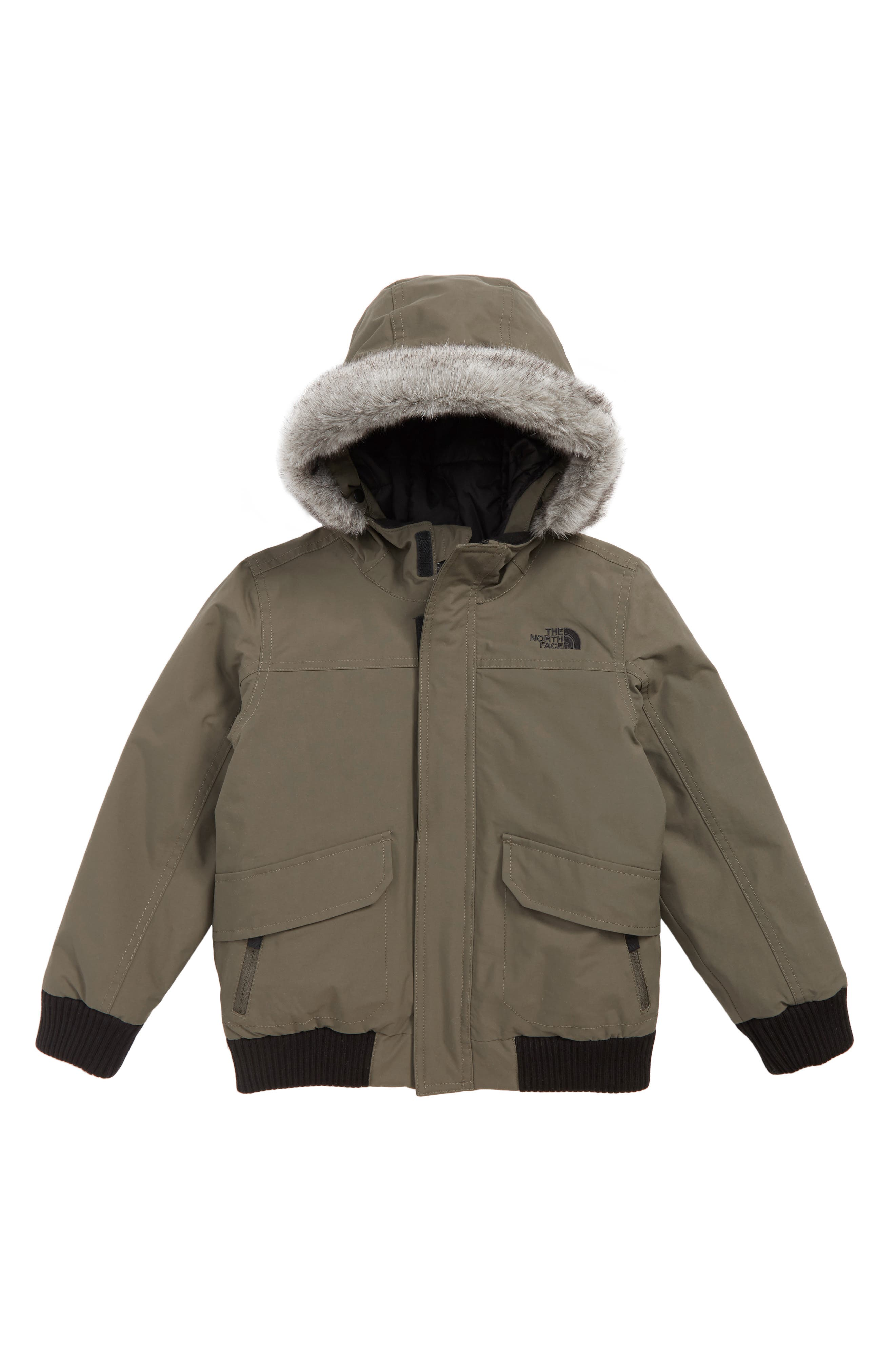Toddler Boys The North Face Gotham Hooded Waterproof 550Fill Power Down Jacket Size 3T  Green