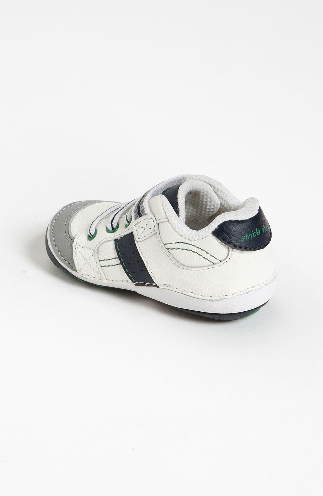 STRIDE RITE, 'Arte' Sneaker, Alternate thumbnail 9, color, WHITE/ NAVY