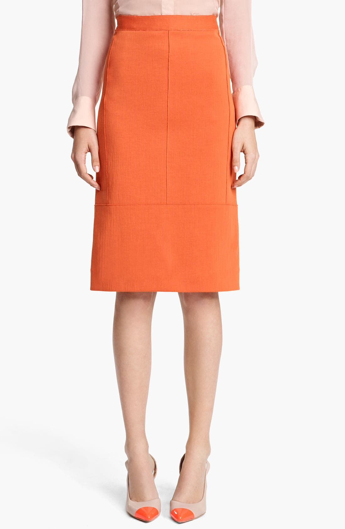 REED KRAKOFF Seamed Jersey Skirt, Main, color, 810