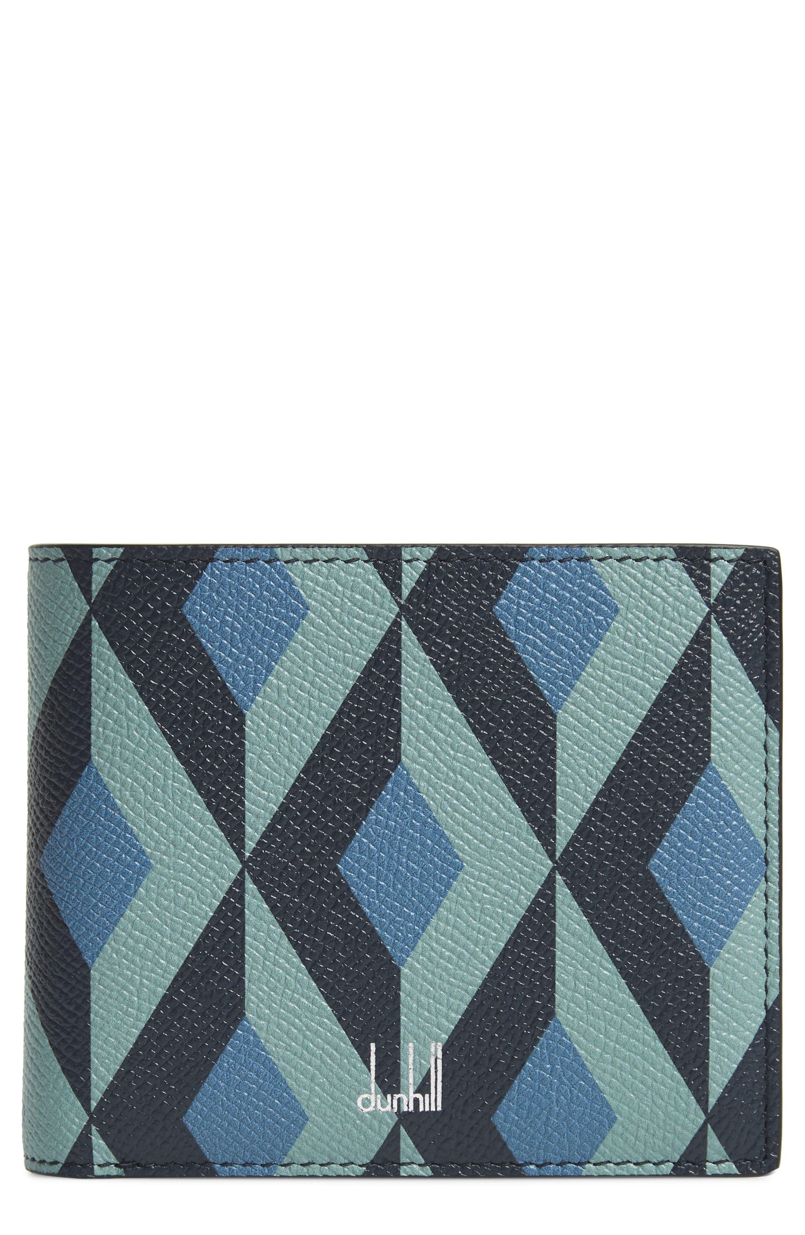 DUNHILL, Cadogan Leather Wallet, Main thumbnail 1, color, STONE BLUE