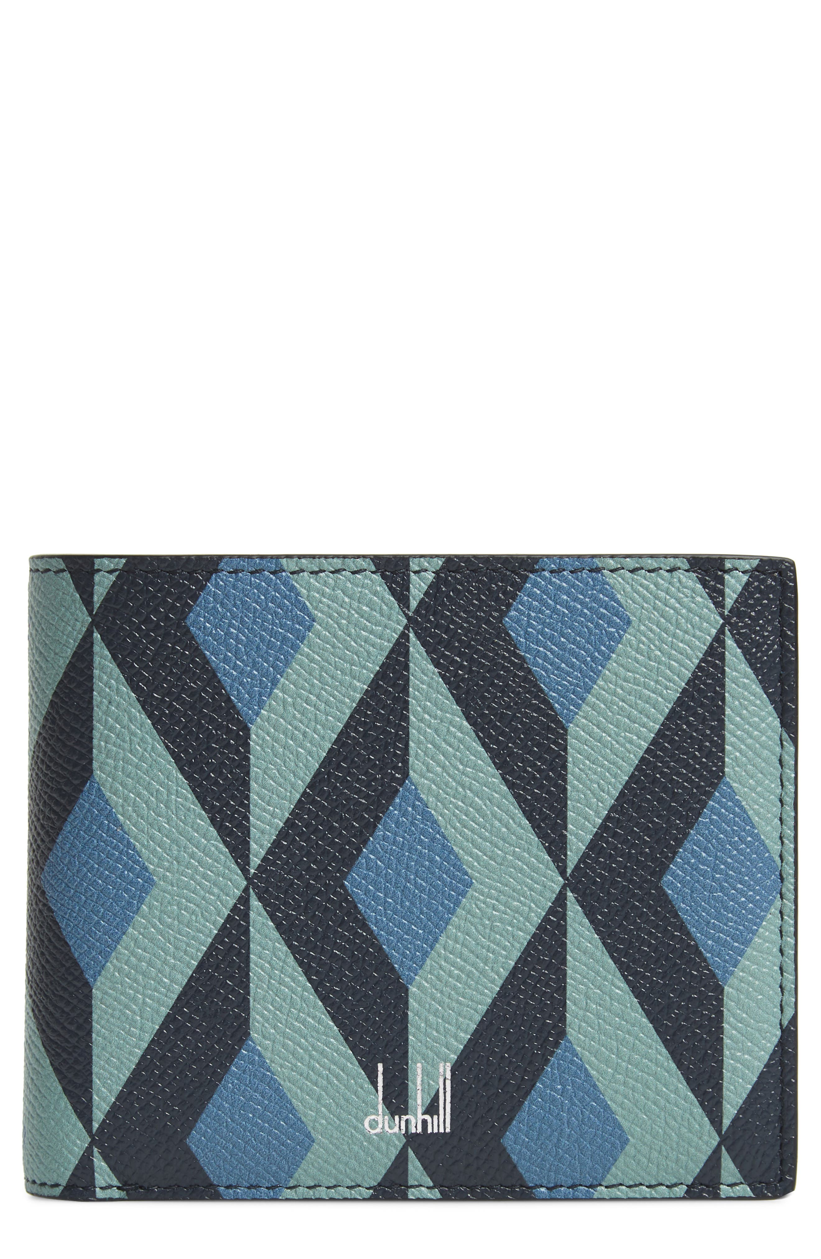 DUNHILL Cadogan Leather Wallet, Main, color, STONE BLUE