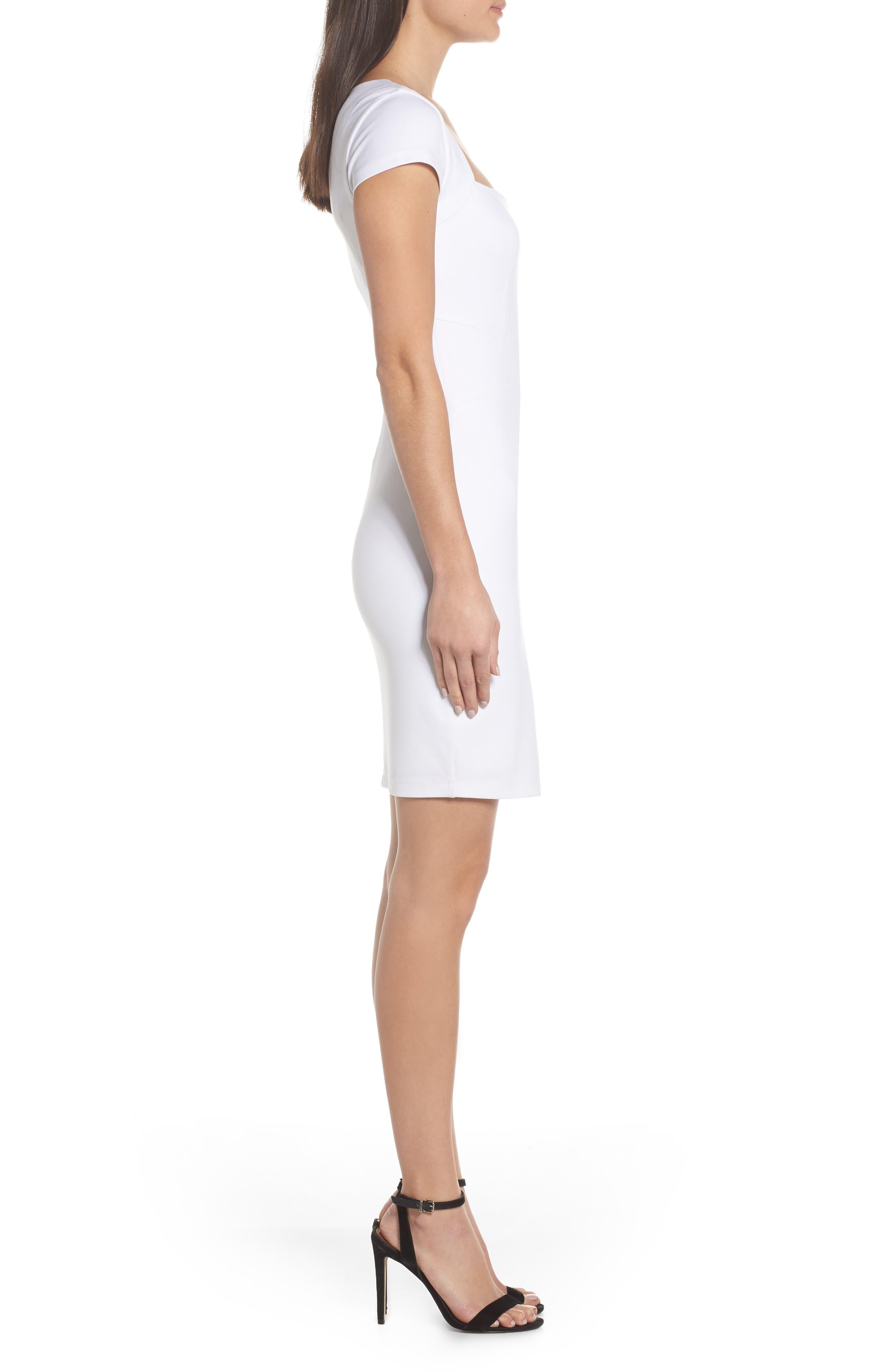 ALI & JAY, Olive Street Body-Con Dress, Alternate thumbnail 4, color, WHITE