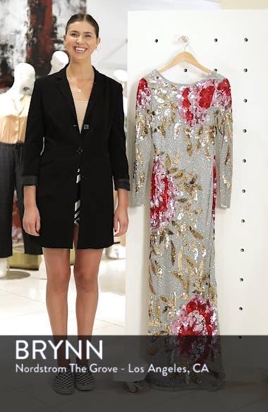 Drape Back Floral Sequin Gown, sales video thumbnail