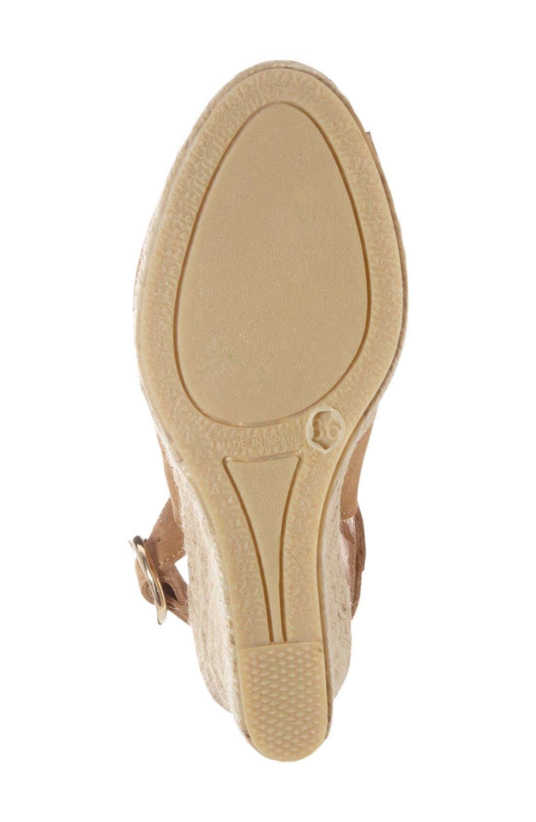 PATRICIA GREEN, 'Belle' Espadrille Wedge Sandal, Alternate thumbnail 3, color, 200