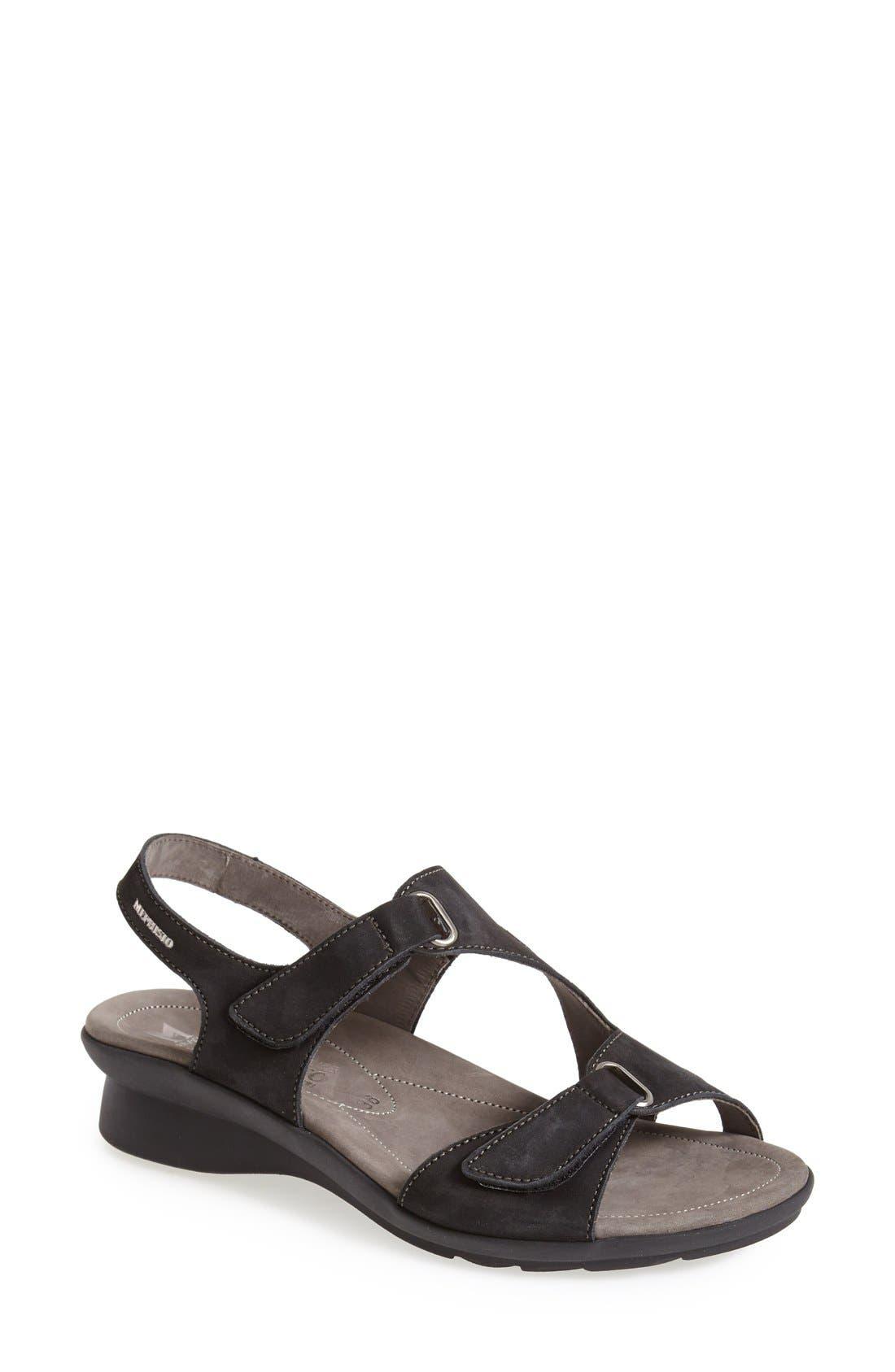 MEPHISTO, 'Paris' Slingback Sandal, Main thumbnail 1, color, BLACK