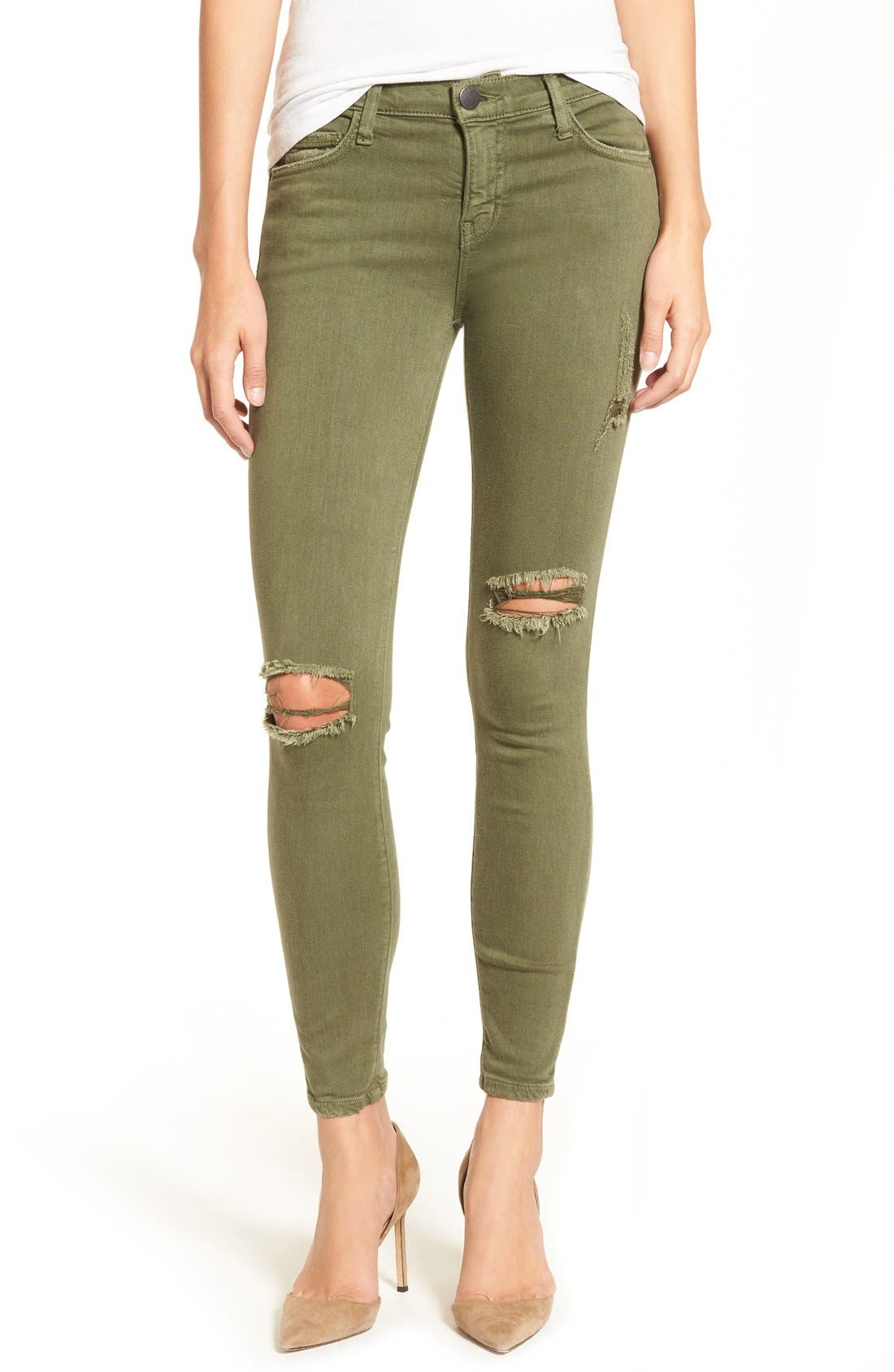 CURRENT/ELLIOTT, 'The Stiletto' Crop Skinny Jeans, Main thumbnail 1, color, 309