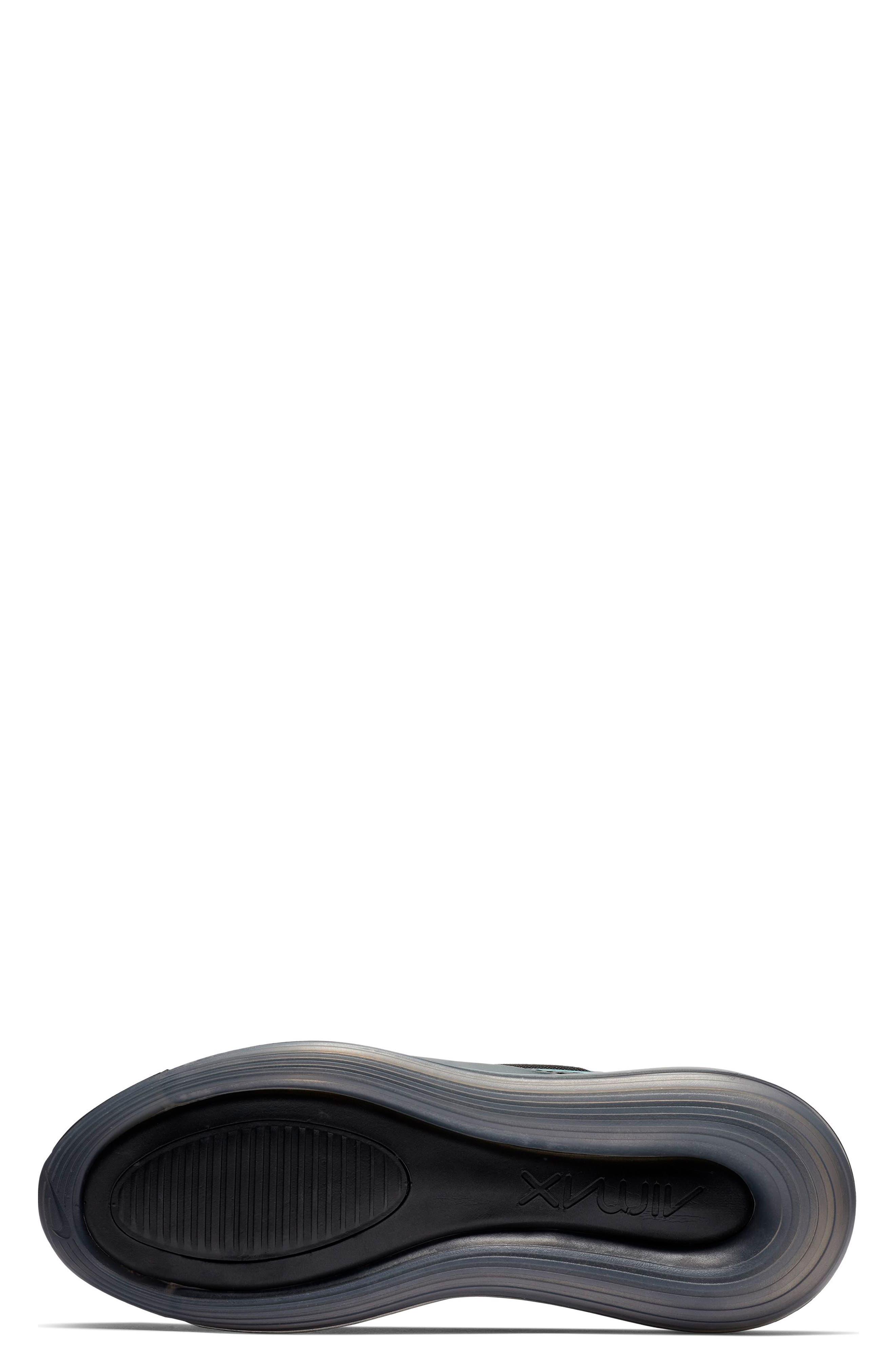 NIKE, Air Max 720 Sneaker, Alternate thumbnail 5, color, BLACK/ FUCHSIA/ ANTHRACITE