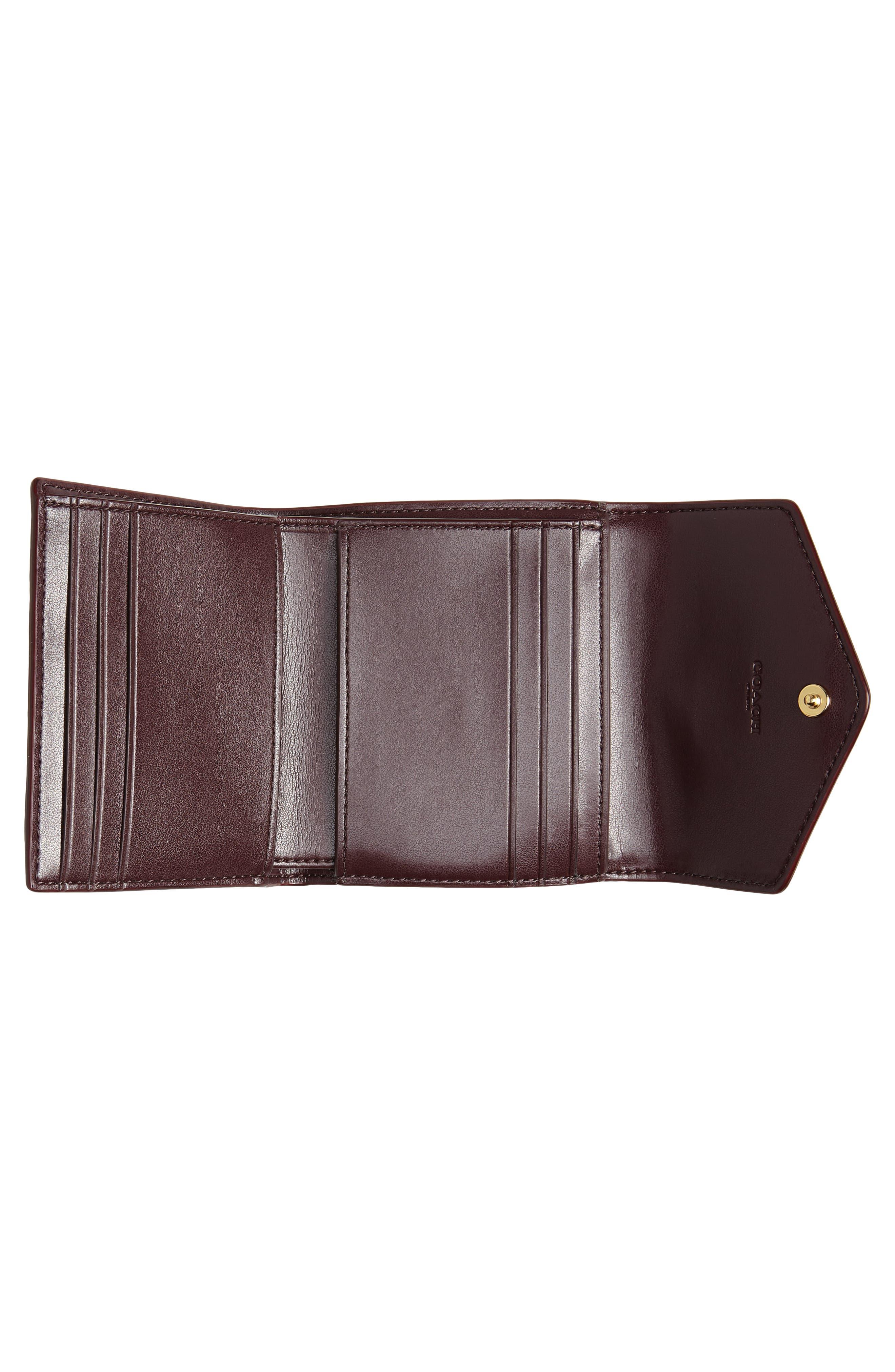 COACH, Colorblock Coated Canvas & Leather Flap Wallet, Alternate thumbnail 2, color, 201