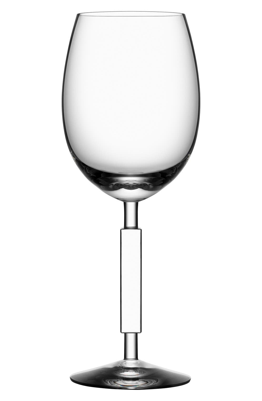 ORREFORS, 'Unique' WhiteWine Glass, Main thumbnail 1, color, WHITE WINE