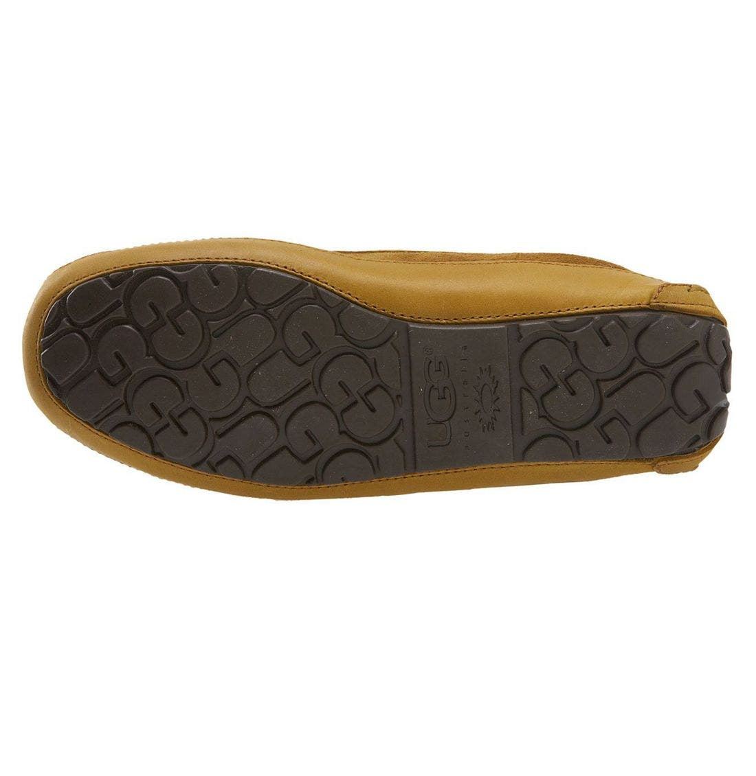 UGG<SUP>®</SUP>, 'Byron' Slipper, Alternate thumbnail 7, color, CHESTNUT