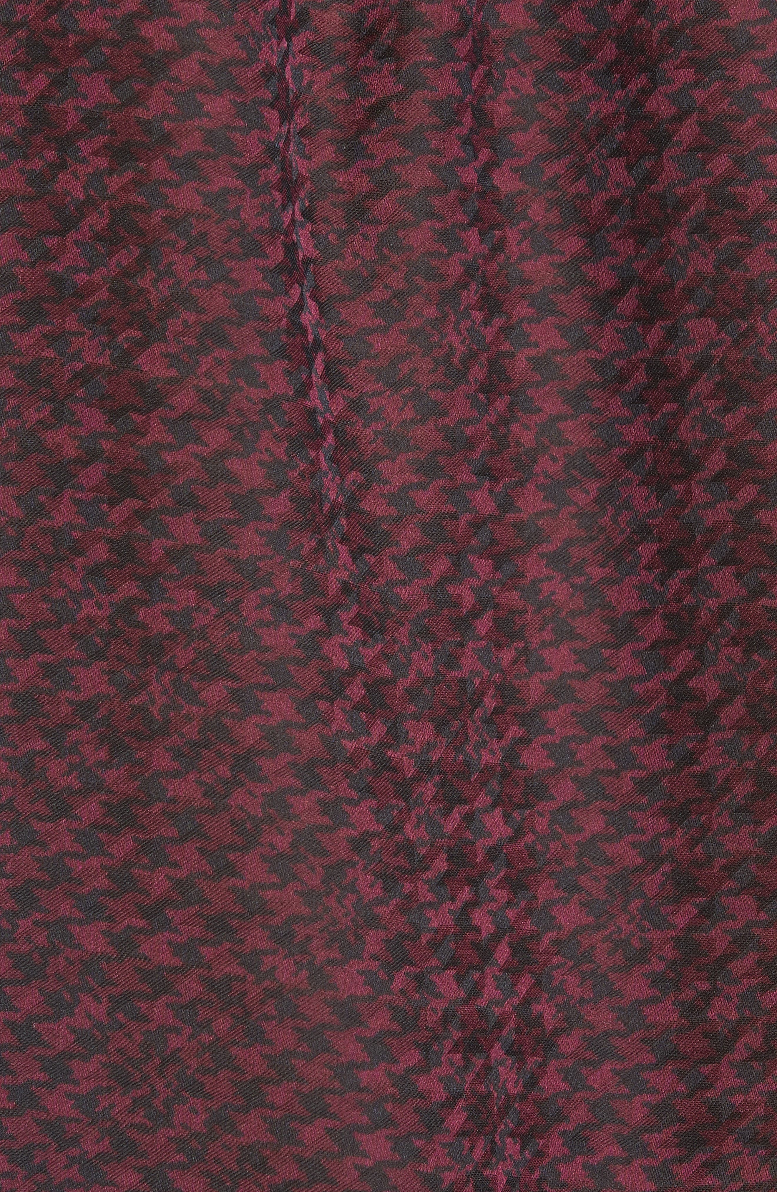 JOIE, Mintee Houndstooth Check Blouse, Alternate thumbnail 5, color, 501