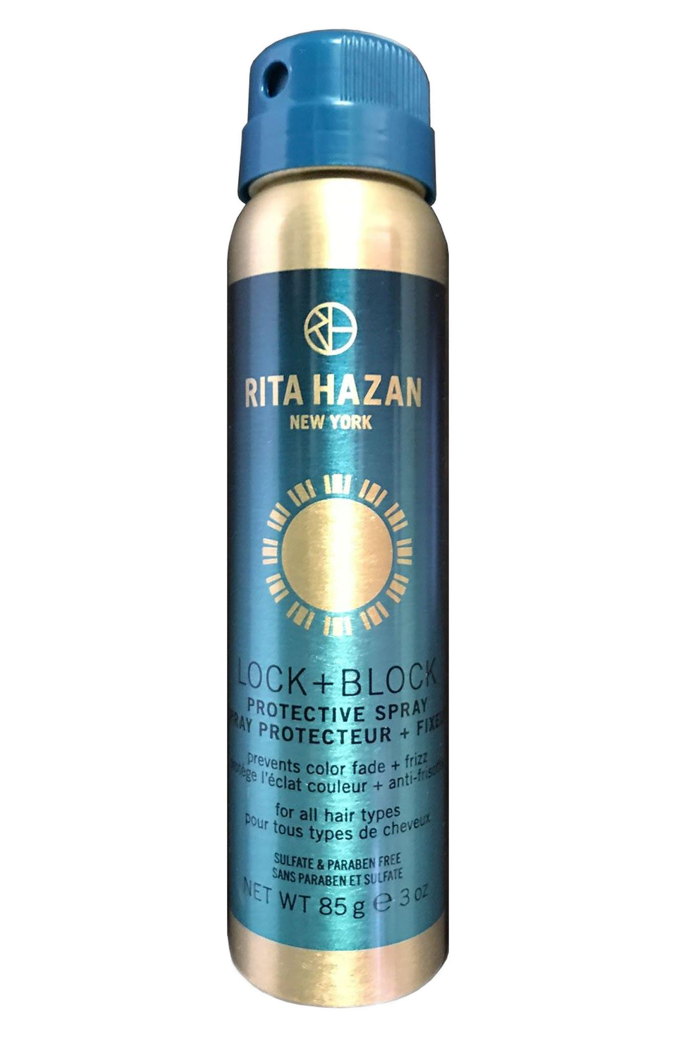RITA HAZAN NEW YORK, Rita Hazan Lock + Block Protective Spray, Main thumbnail 1, color, NO COLOR
