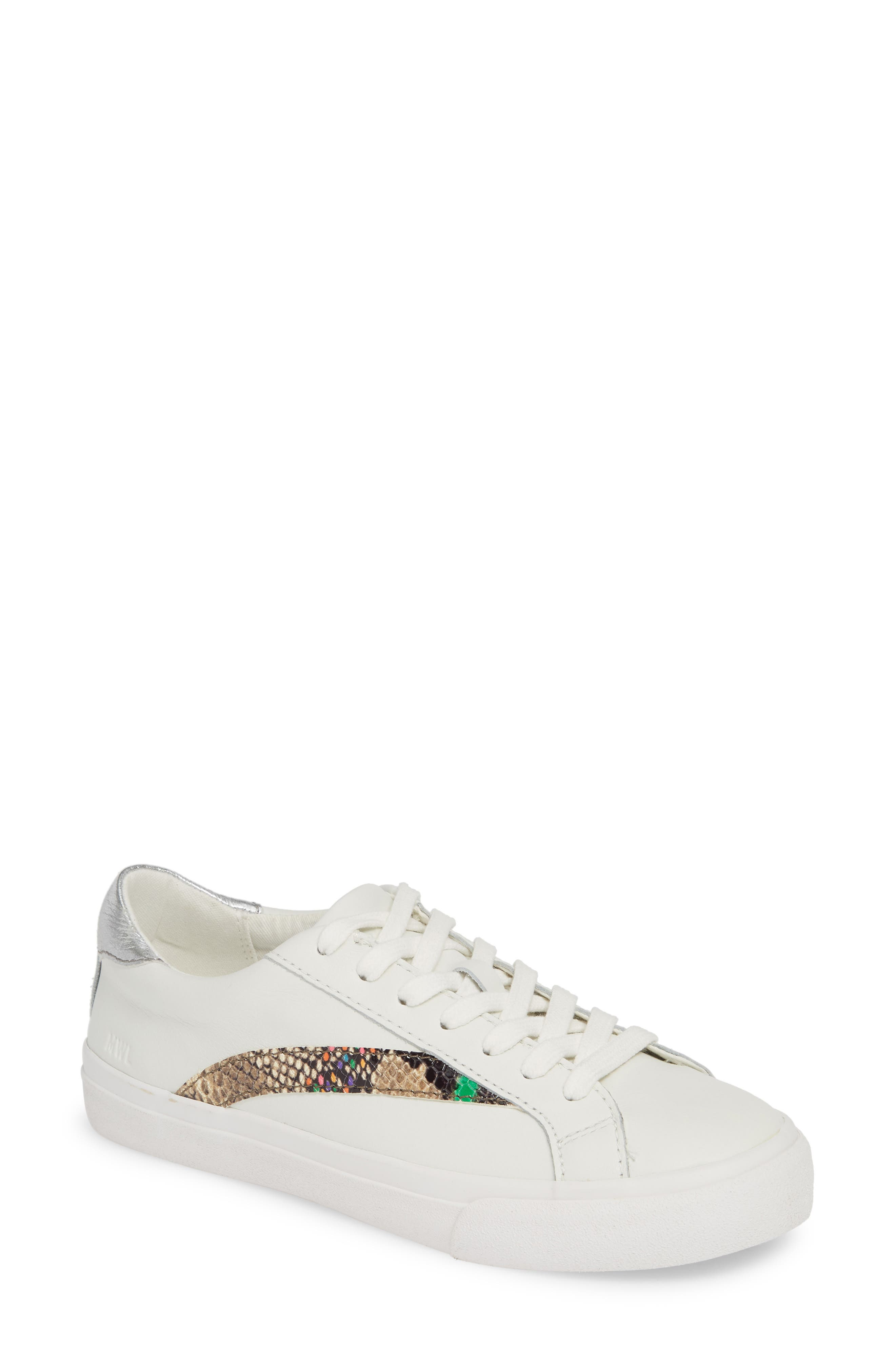 MADEWELL, Delia Sneaker, Main thumbnail 1, color, LIGHT UMBER MULTI