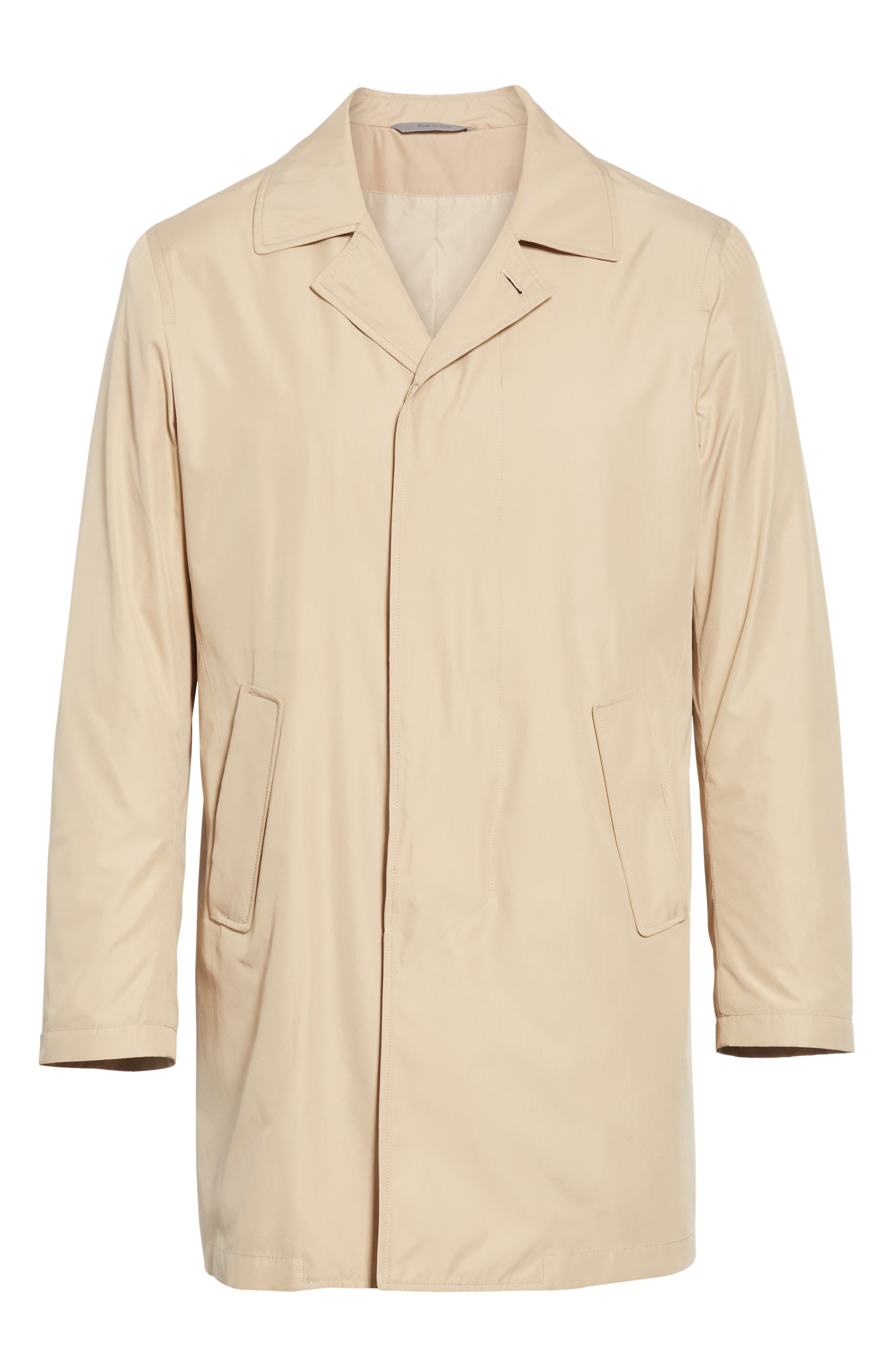 CANALI, Lightweight Overcoat, Alternate thumbnail 6, color, BEIGE