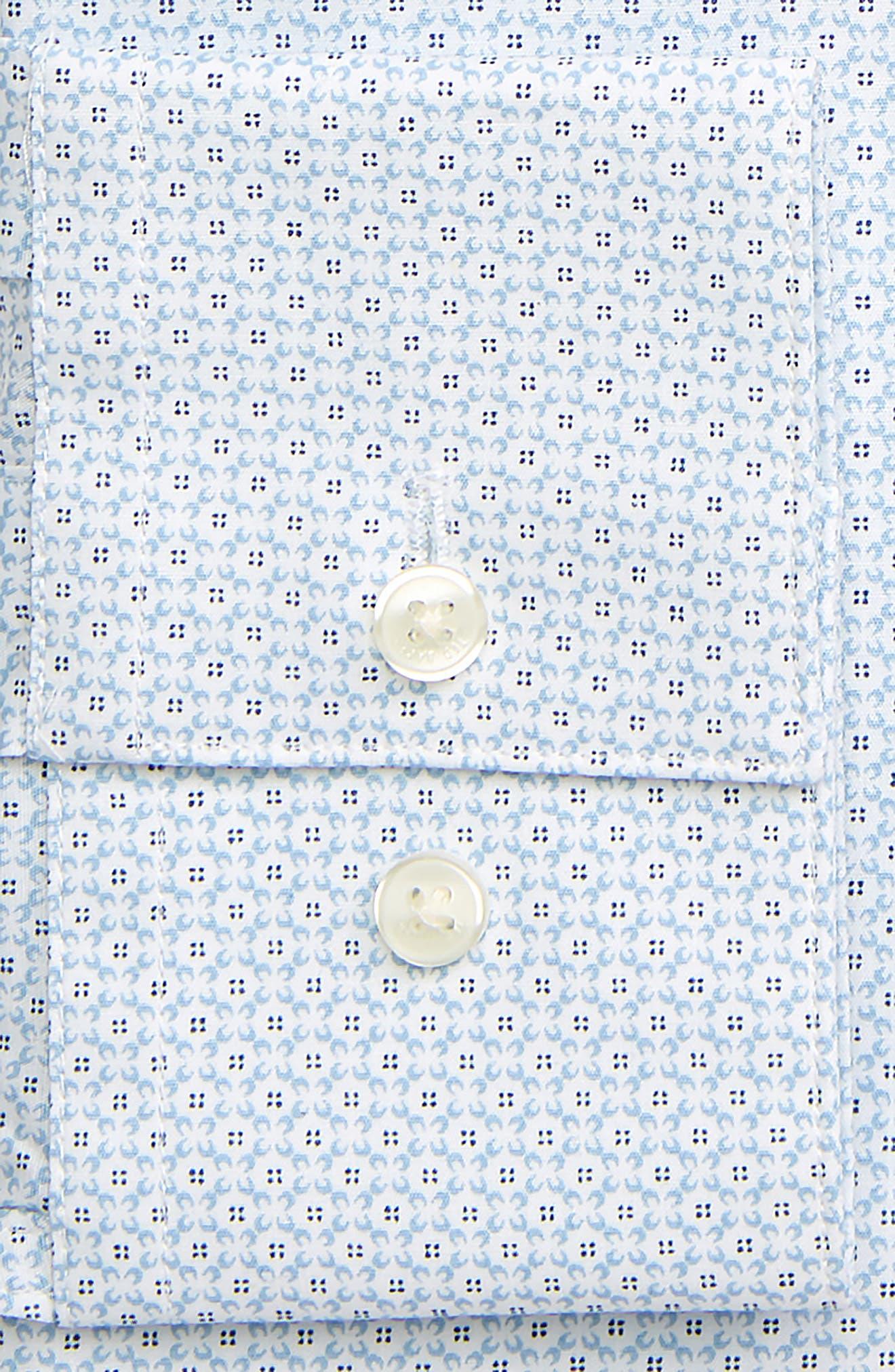 TED BAKER LONDON, Endurance Wobego Slim Fit Geometric Dress Shirt, Alternate thumbnail 2, color, BLUE