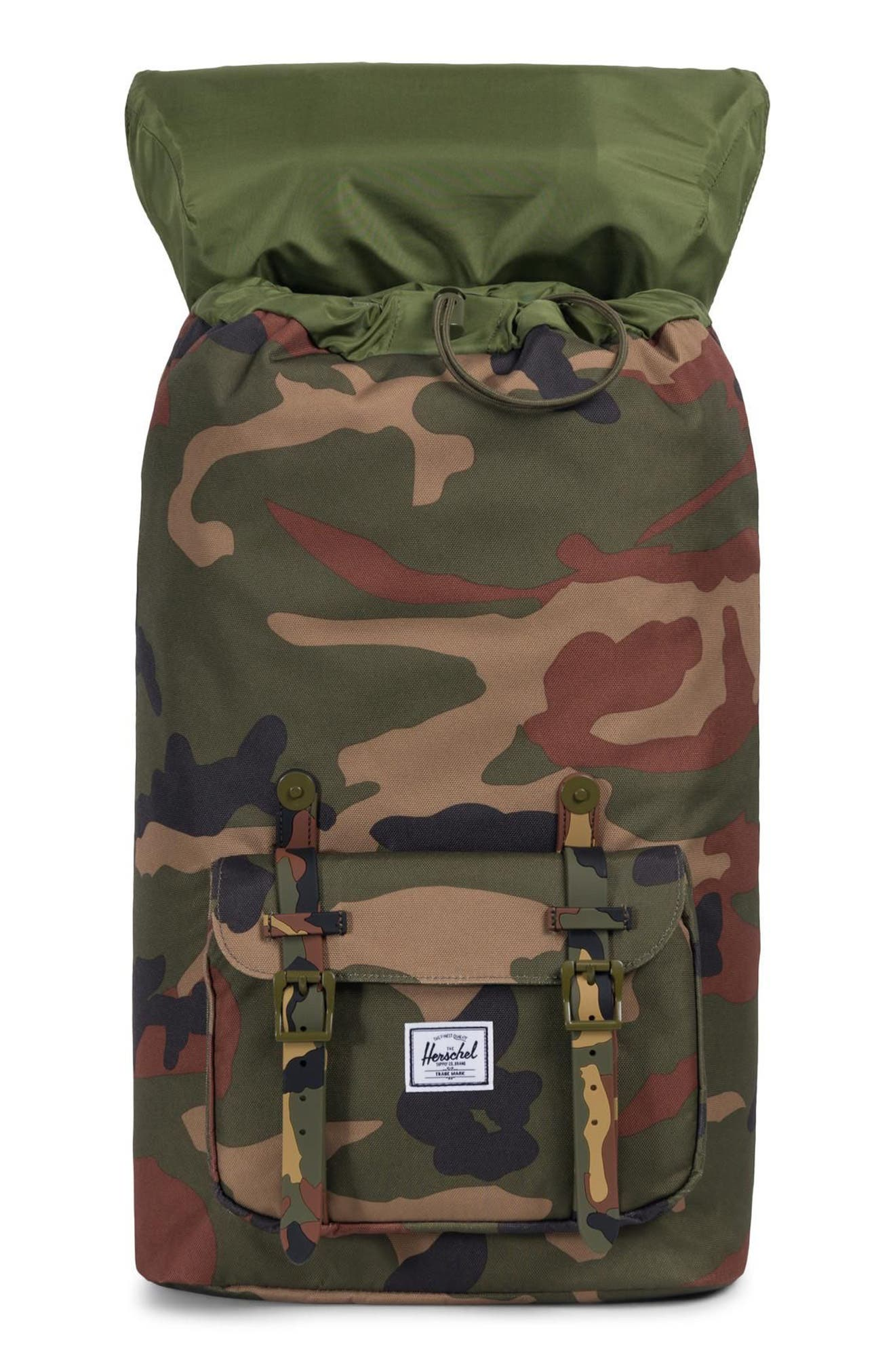 HERSCHEL SUPPLY CO., Little America Backpack, Alternate thumbnail 4, color, WOODLAND CAMO