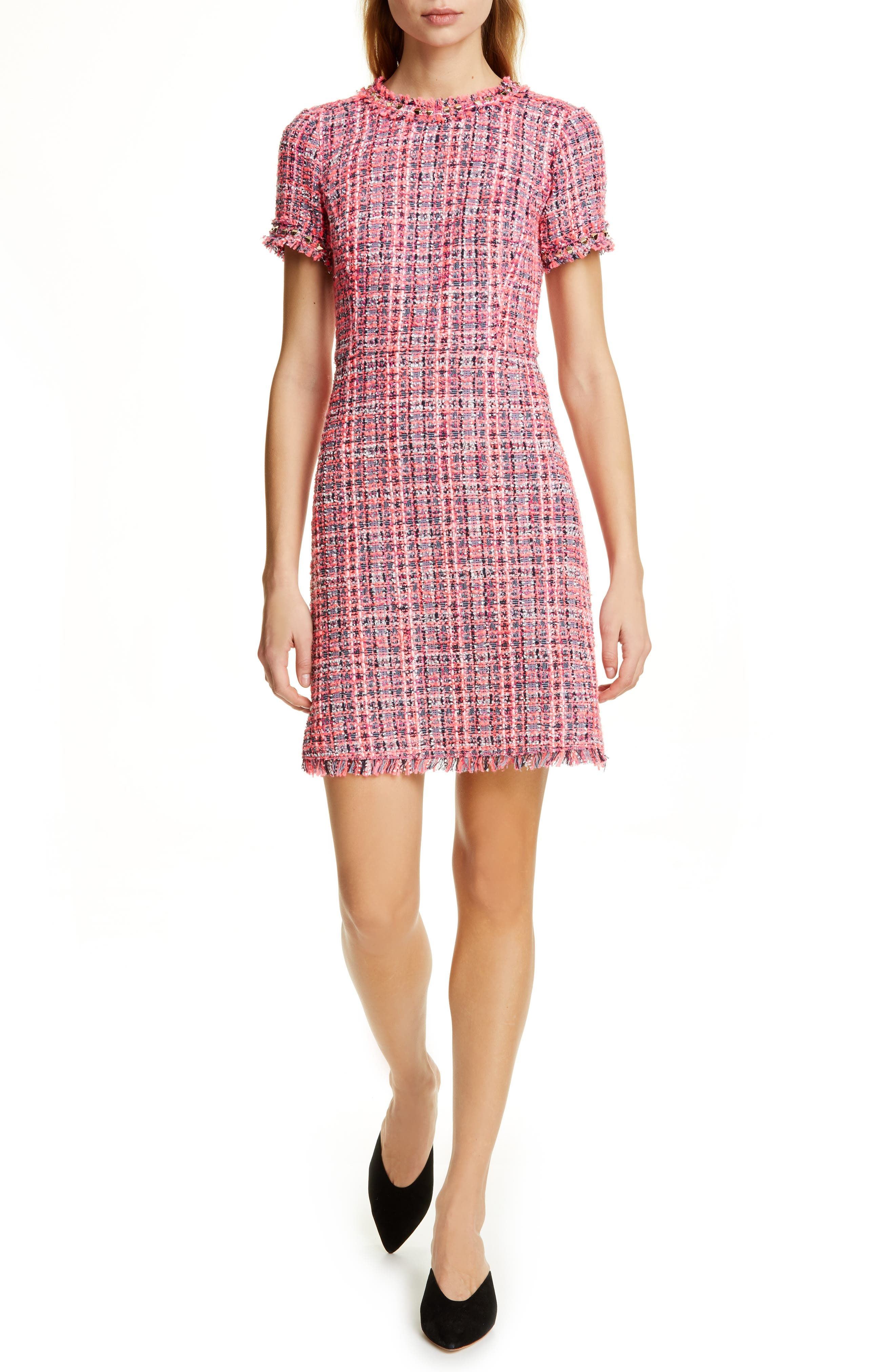 Kate Spade New York Tweed Minidress, Pink