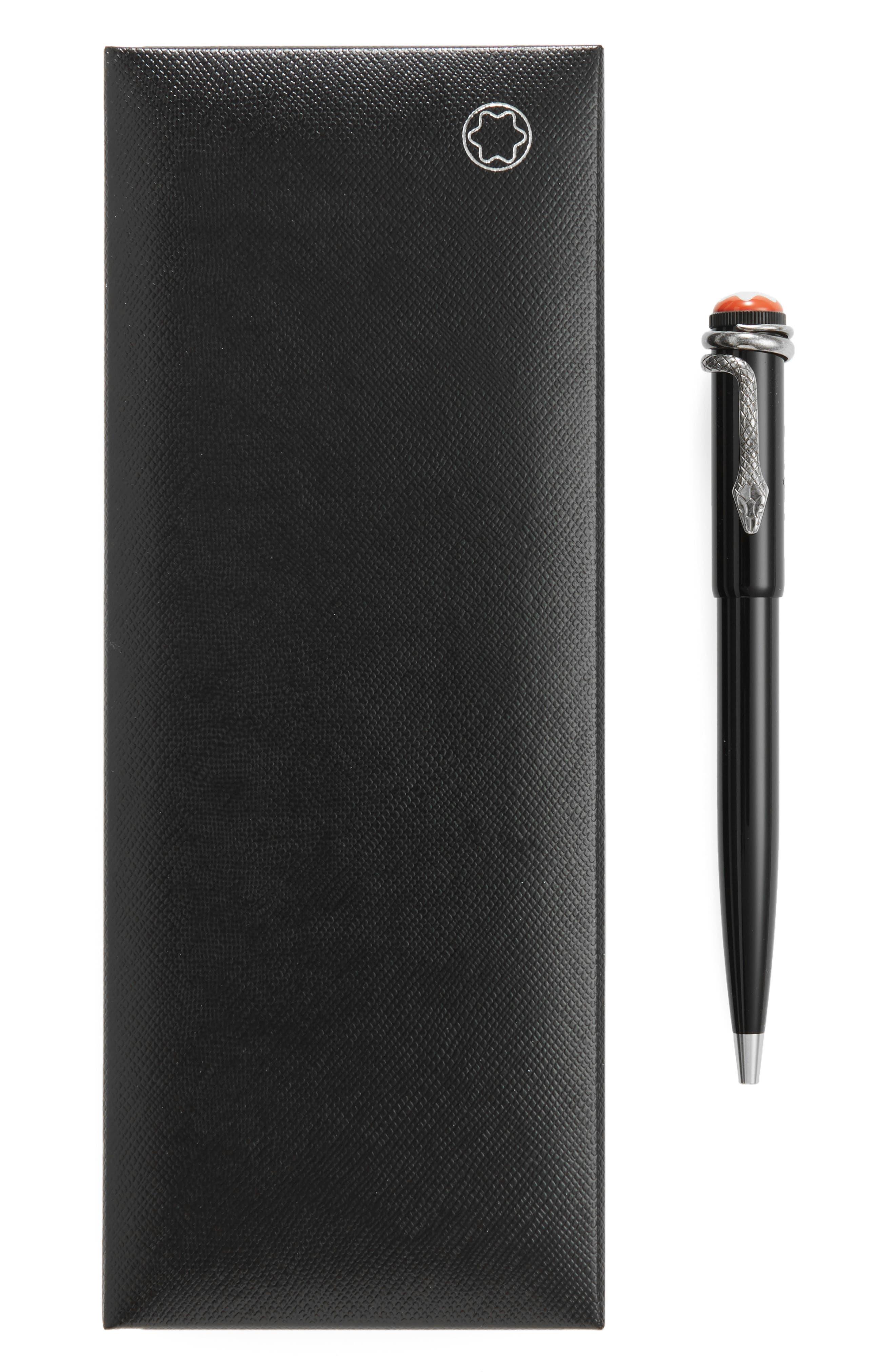 MONTBLANC, Heritage Collection Rouge et Noir Special Edition Ballpoint Pen, Alternate thumbnail 2, color, 001