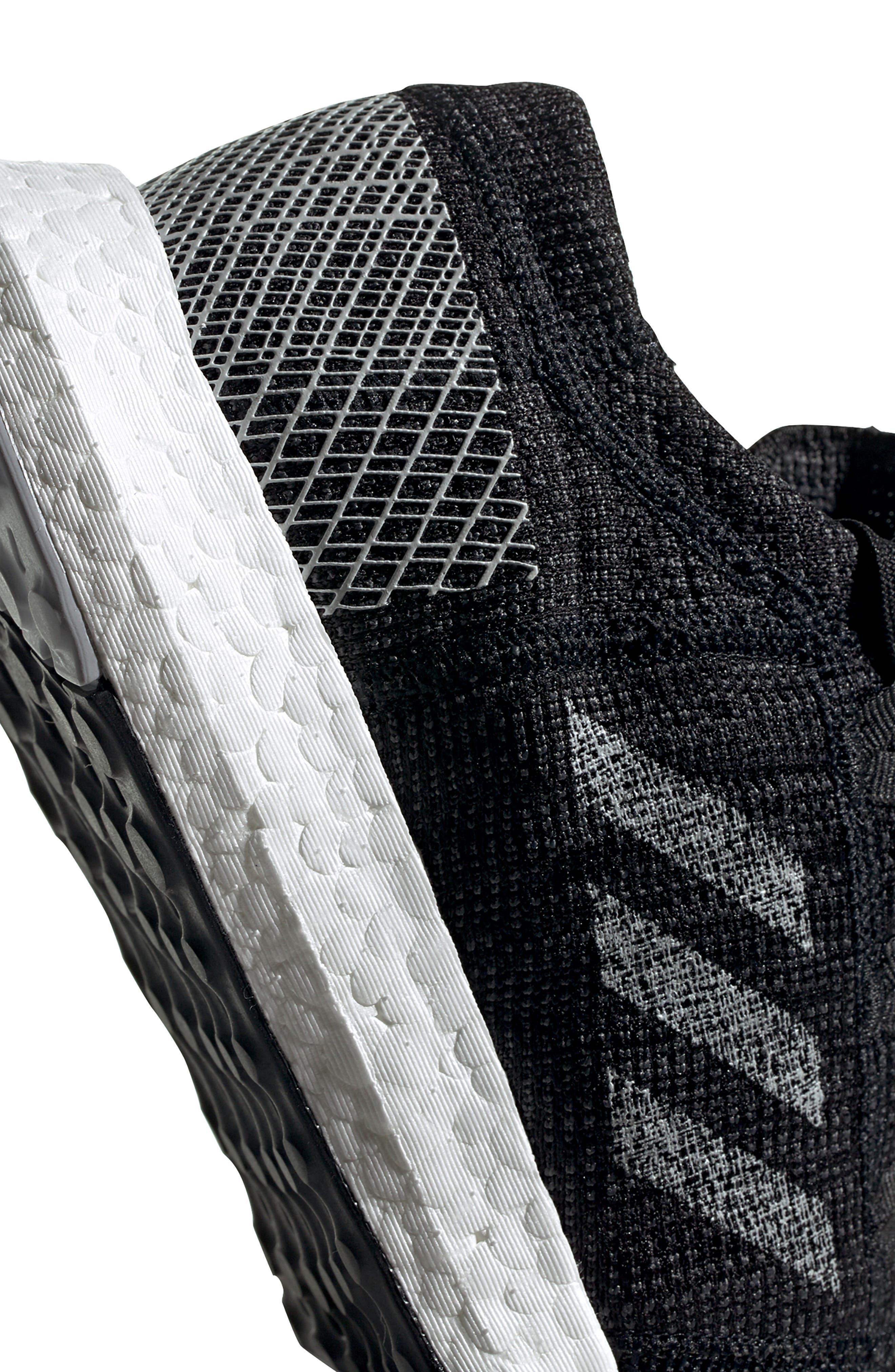 ADIDAS, PureBoost Go Running Shoe, Alternate thumbnail 11, color, CORE BLACK/ GREY