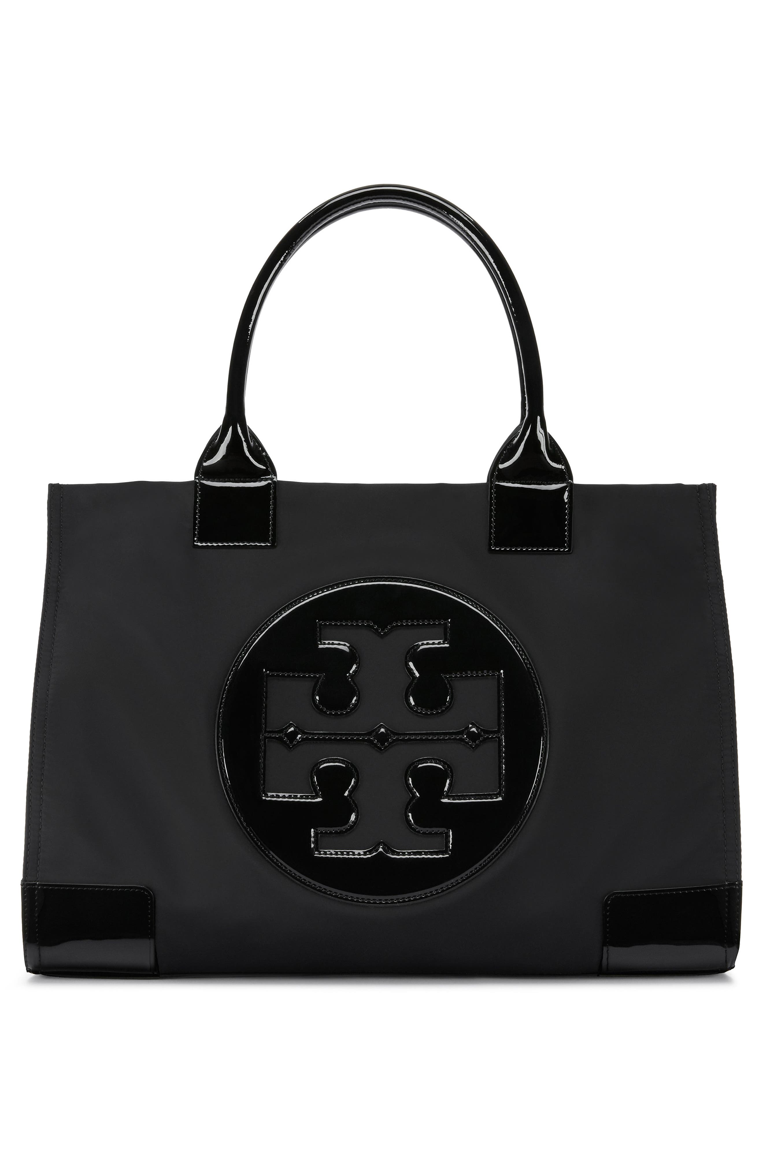 TORY BURCH, 'Ella' Nylon Tote, Alternate thumbnail 2, color, 001
